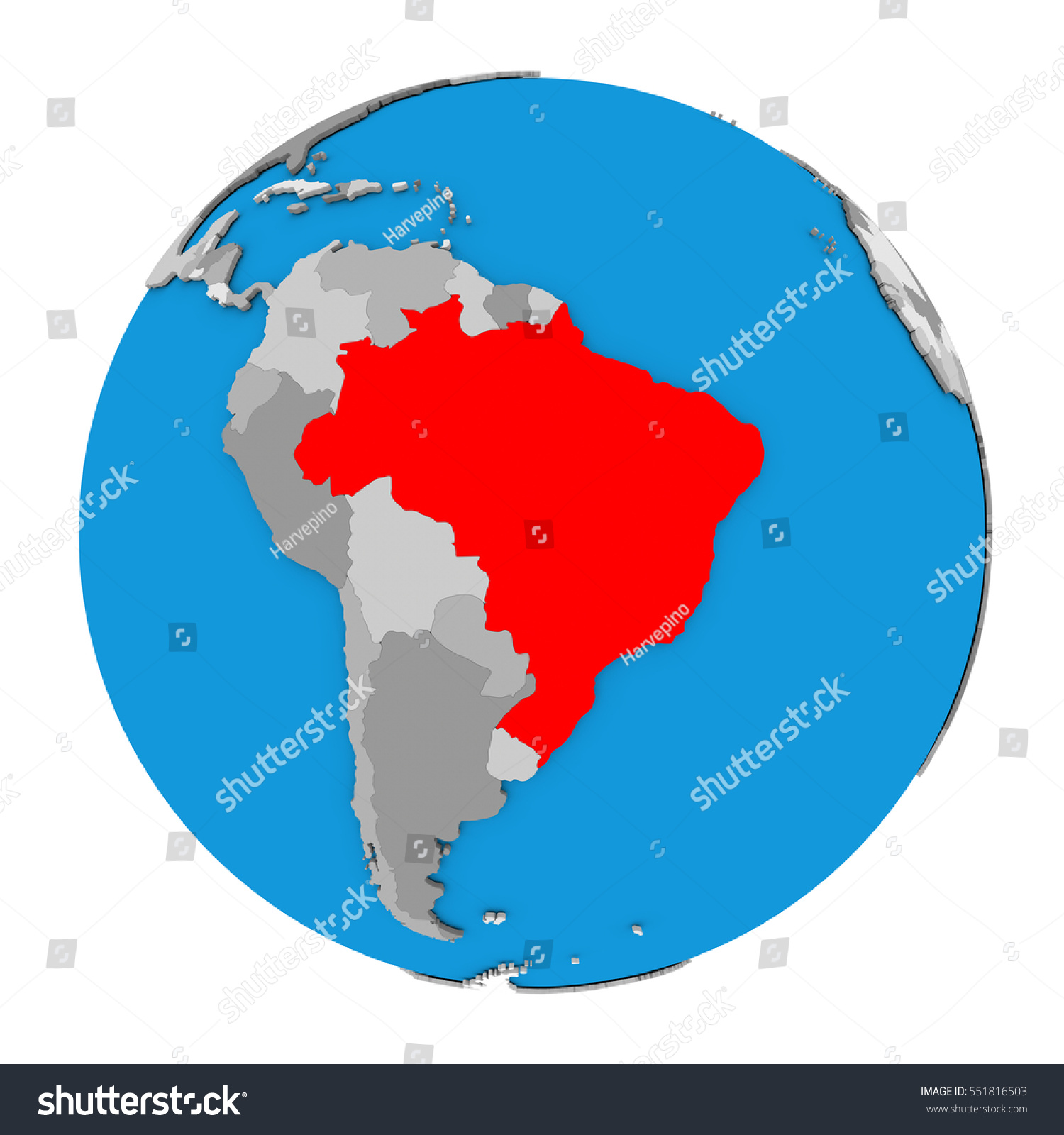 Map brazil highlighted red on globe stock illustration 551816503 map brazil highlighted red on globe stock illustration 551816503 shutterstock gumiabroncs Images