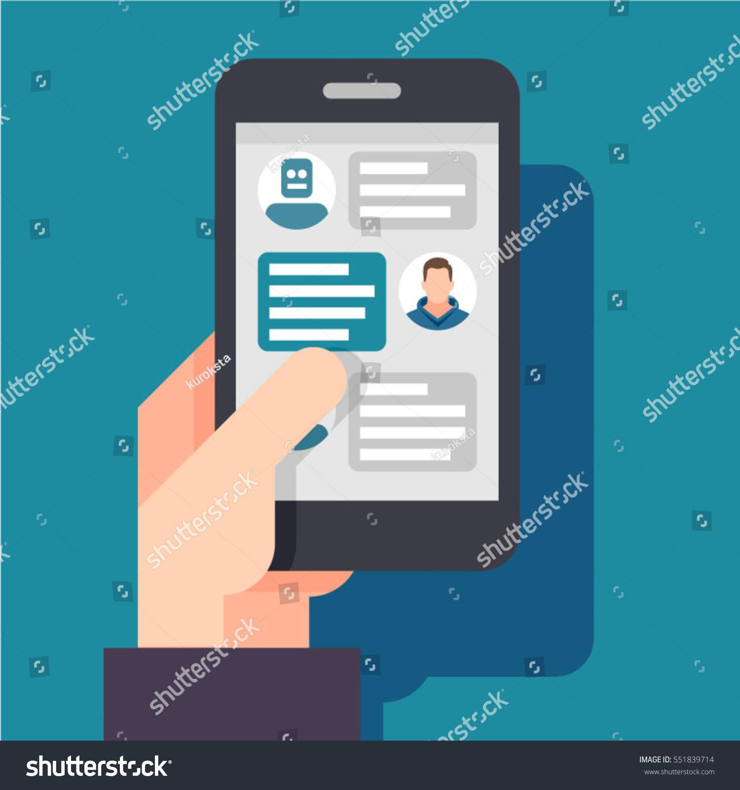 man live chatting