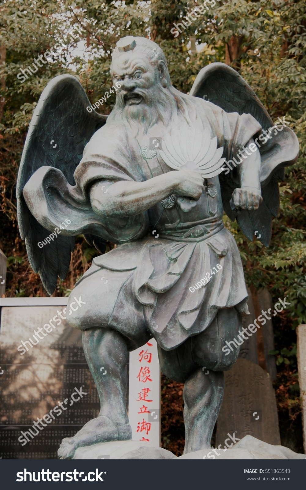 stone statue fortune forest mountain spirit stock photo edit now