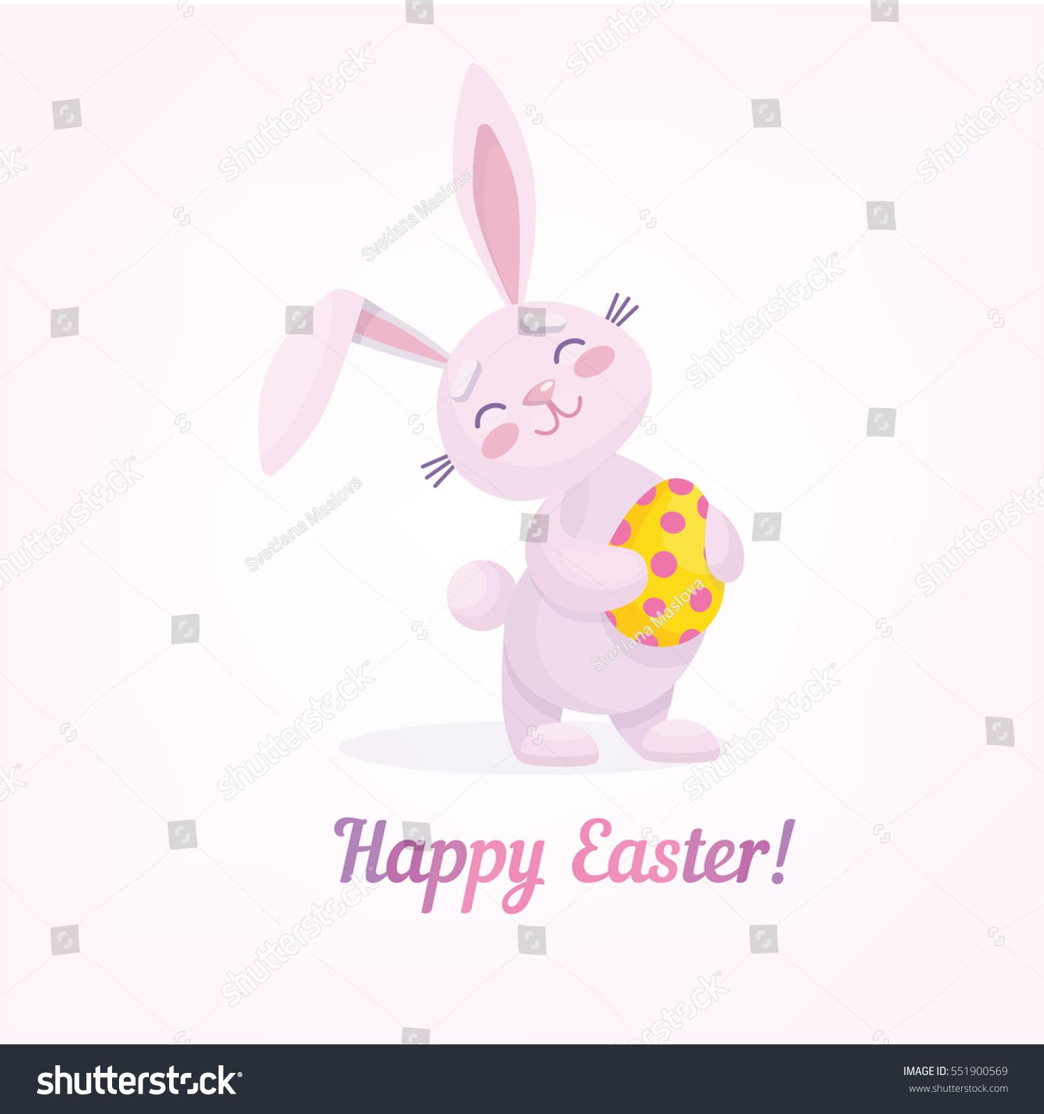 easter rabbit easter egg vector illustration stock vector