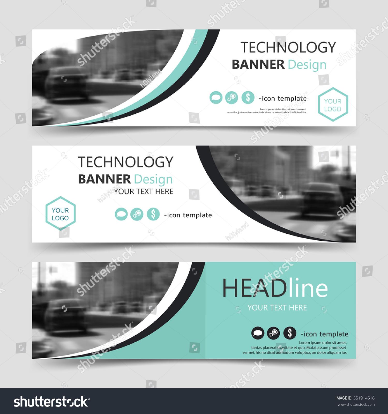 set horizontal banner templates vector corporate stock vector 551914516 shutterstock. Black Bedroom Furniture Sets. Home Design Ideas