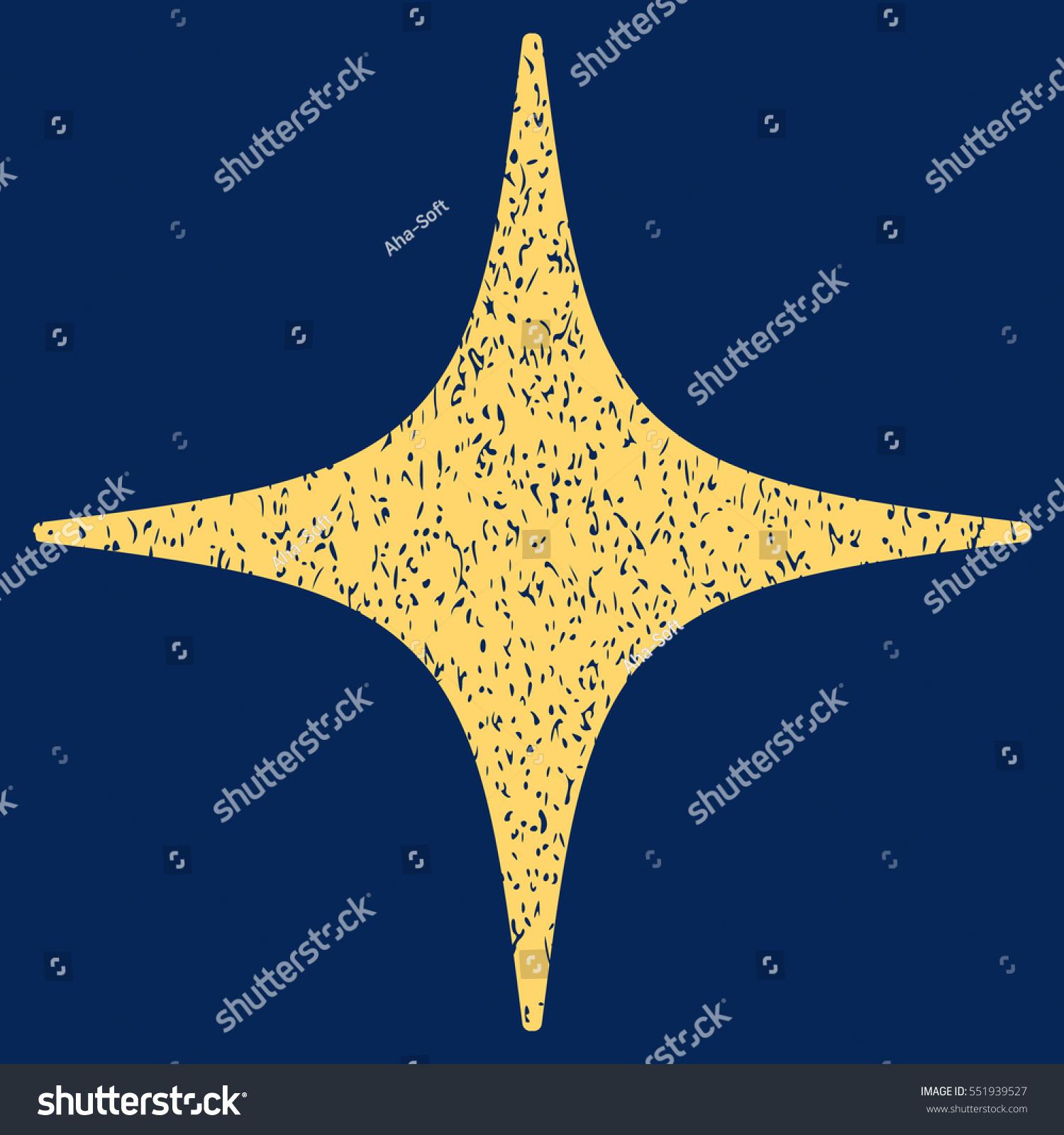 Star Grainy Textured Icon Overlay Watermark Stock Vector