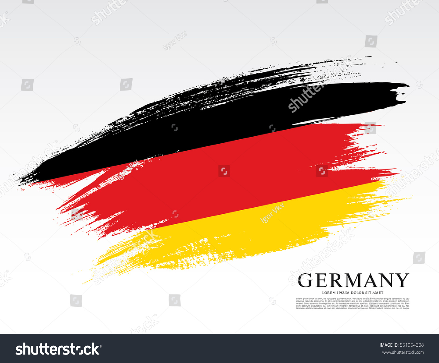 Flag Federal Republic Germany Brush Stroke Stock-Vektorgrafik ...