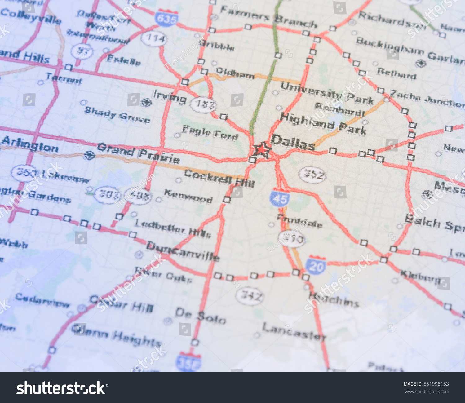 Map Of North Texas Cities.Dallas On A Map Of Texas