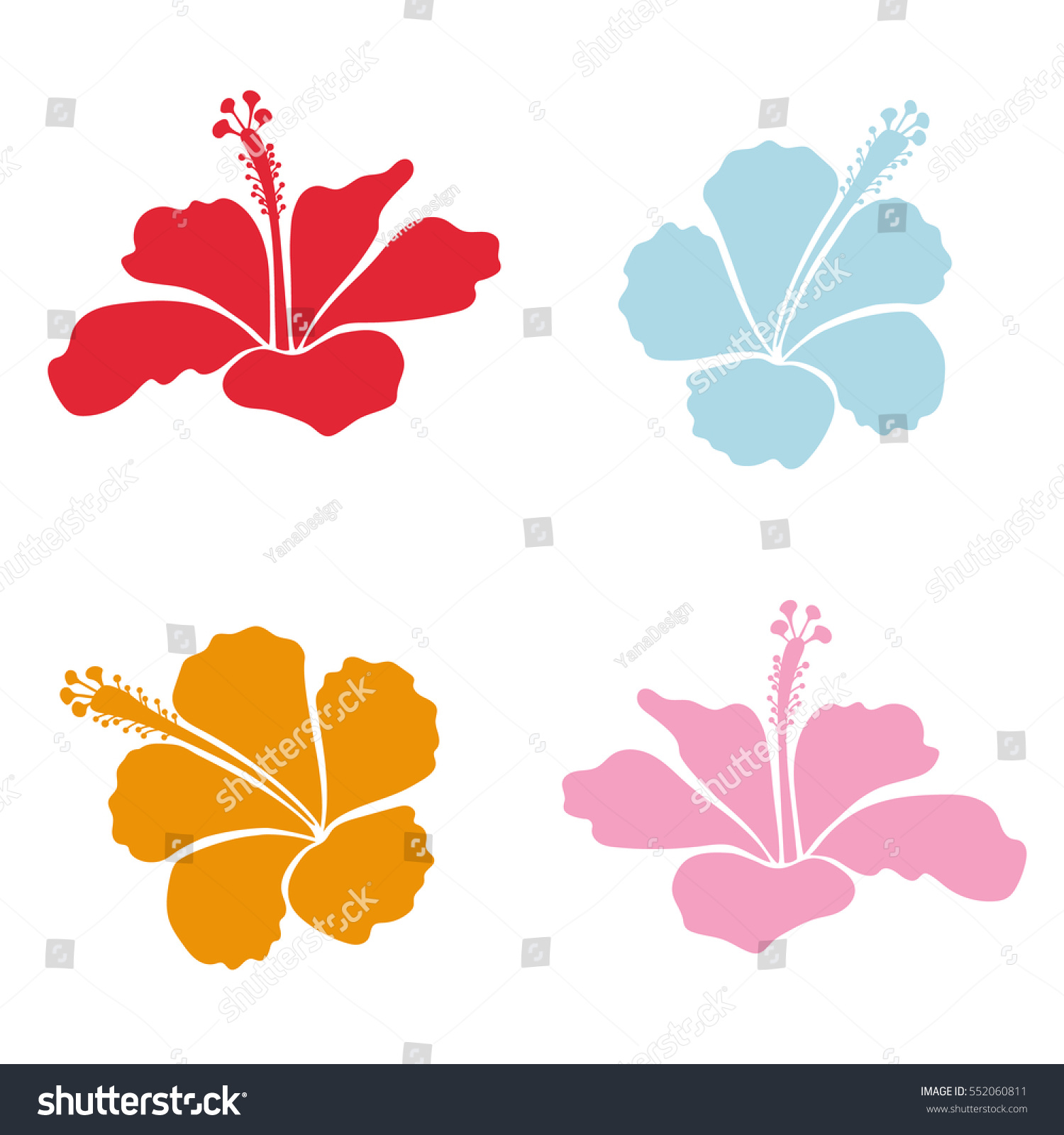 Vector collection hawaiian aloha shirt hibiscus stock vector vector collection of hawaiian aloha shirt hibiscus flowers in pink yellow and red colors izmirmasajfo Gallery