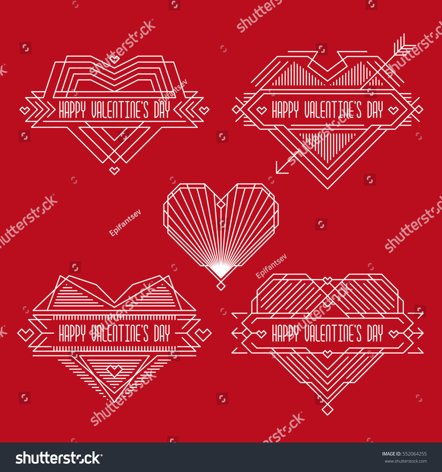 happy valentines day badges frames in outline style valentines banners with hearts - Valentines Picture Frames