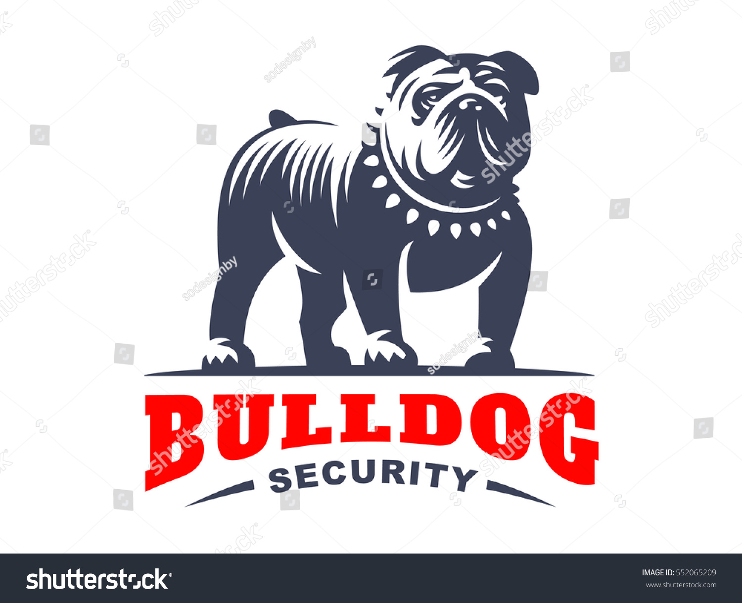 Bulldog Logo Vector Illustration Emblem Design Stock ...