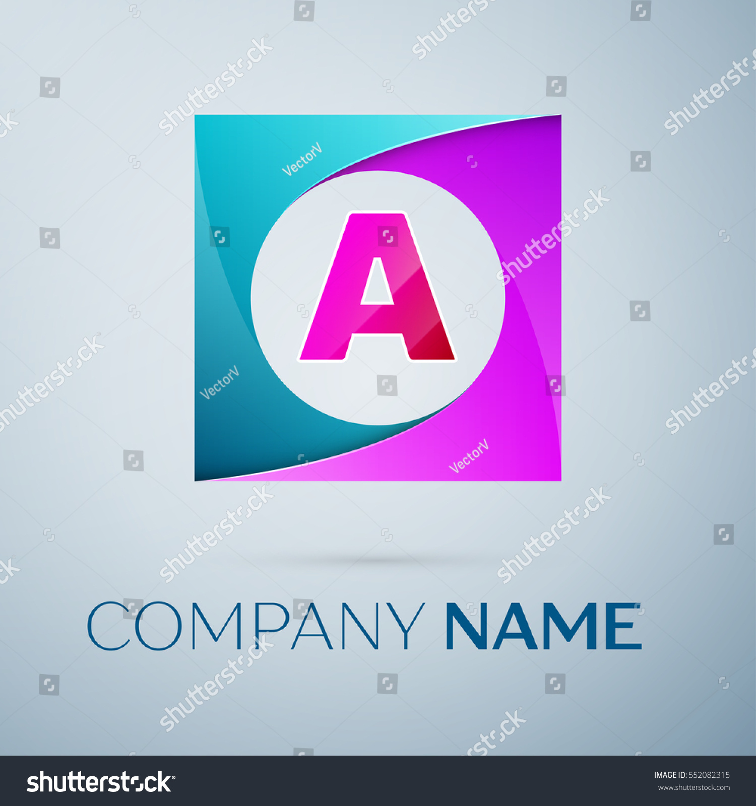 letter vector logo symbol colorful square stock vector royalty free
