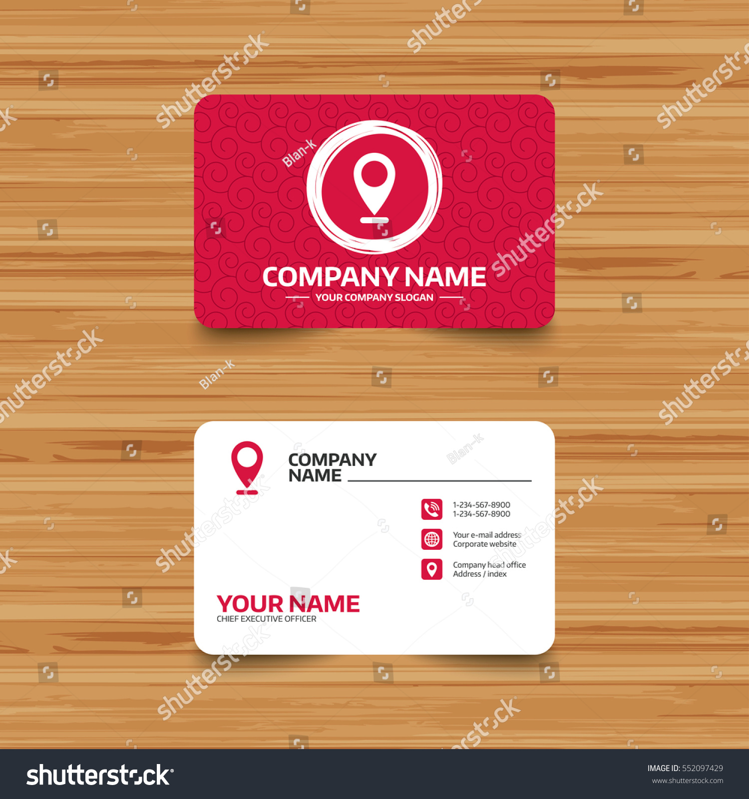 Business Card Template Texture Internet Mark Stock Vector HD ...