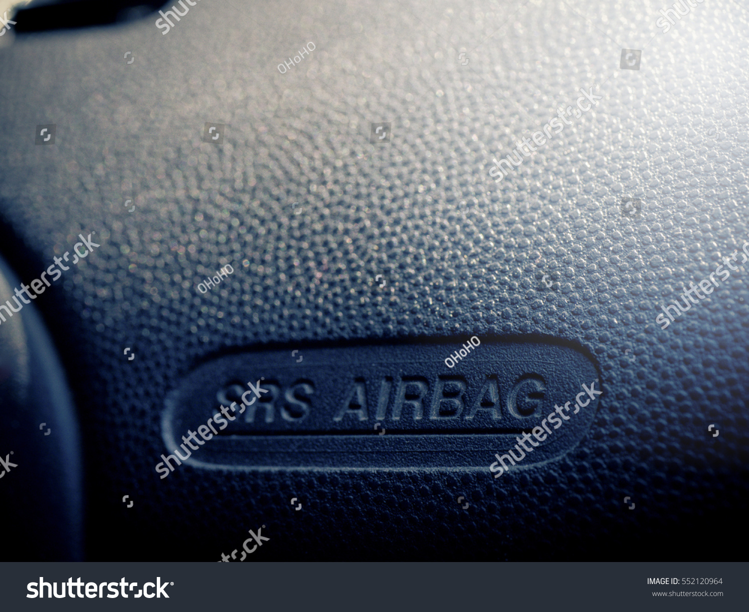 Car Air bag logo on the front seat panel