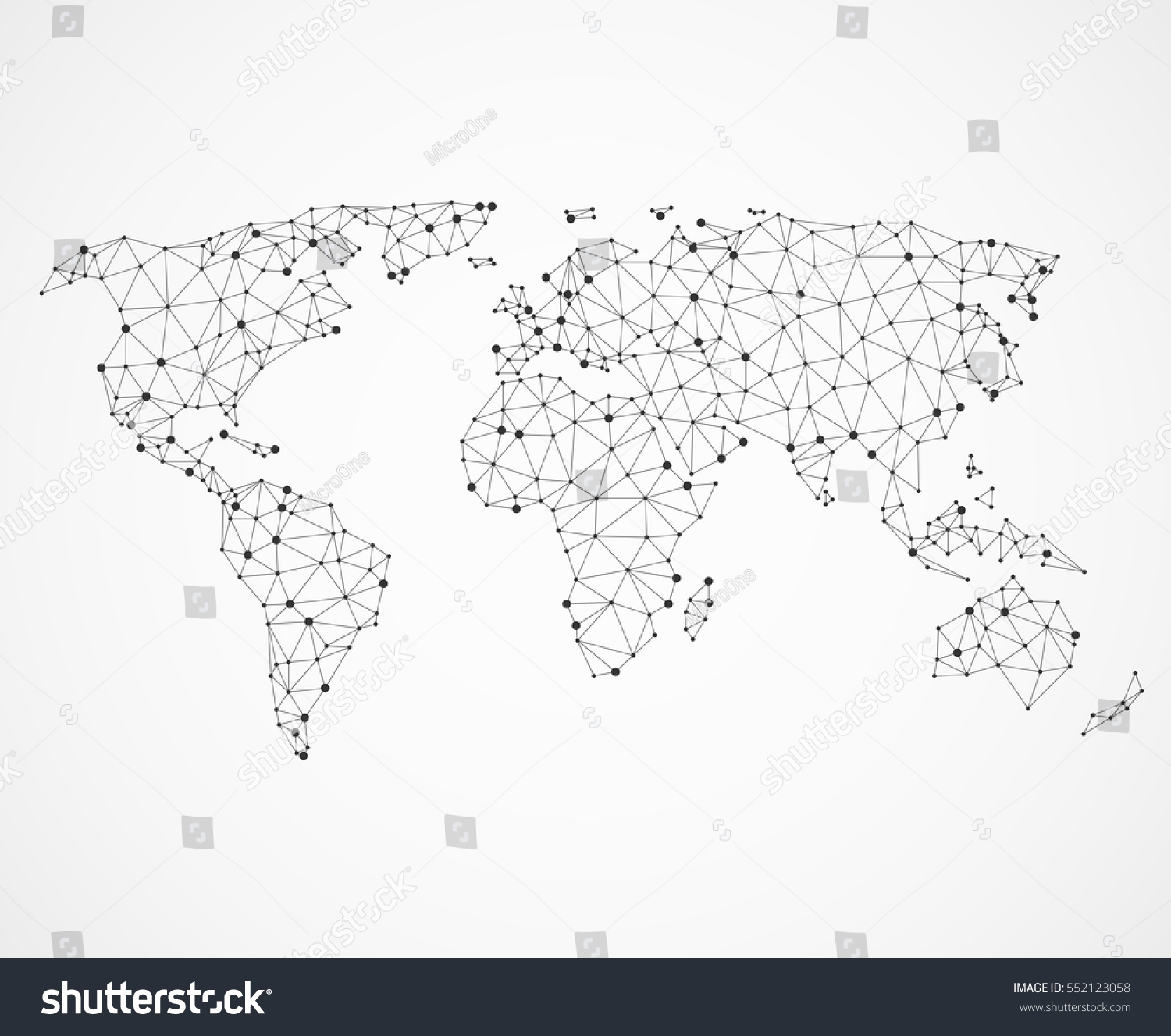 Networking world map texture low poly stock vector 552123058 networking world map texture low poly earth map vector global communication concept illustration gumiabroncs Images