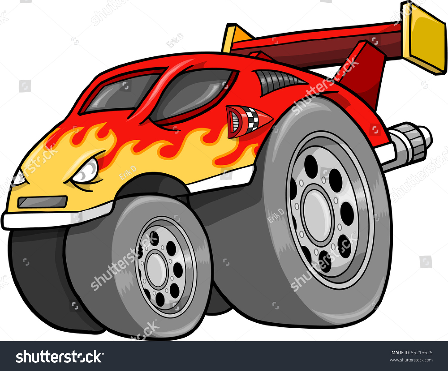 Hot Rod Race Car Vector Illustration Stock Vector 55215625 ...