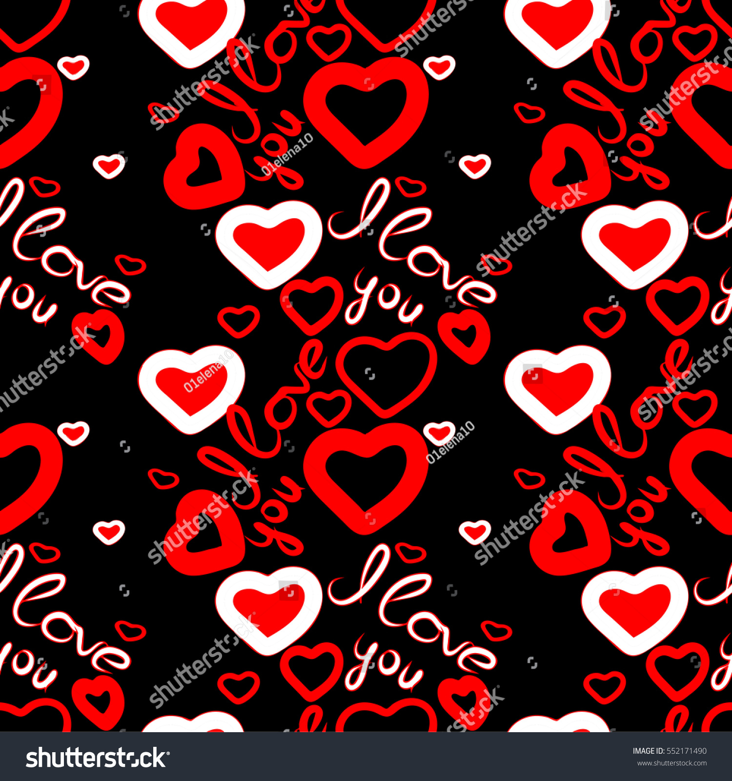 seamless pattern i love you hearts for fabric and wallpaper