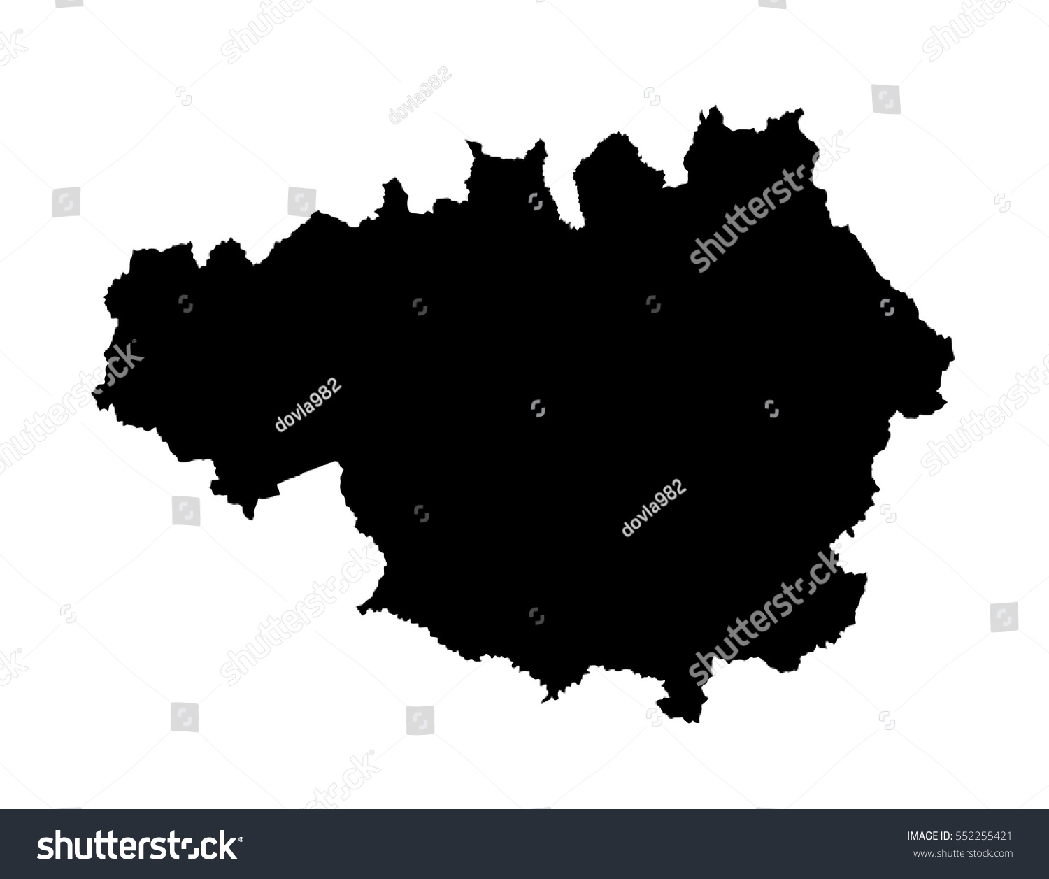 Vector Silhouette Map Greater Manchester North Stock ...