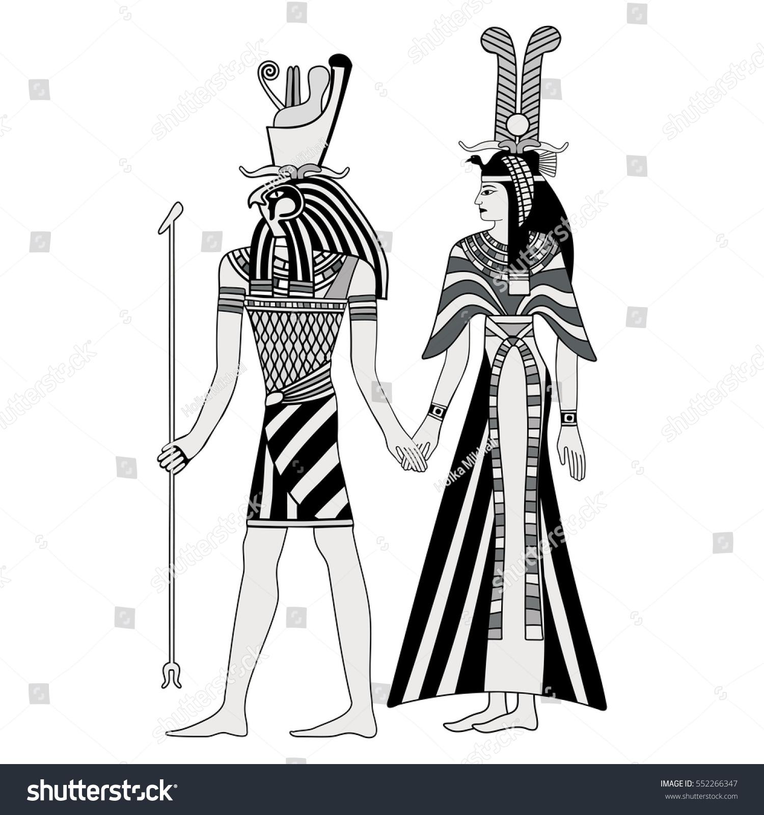 Vector Illustration Egyptian National Drawing Goddess ...