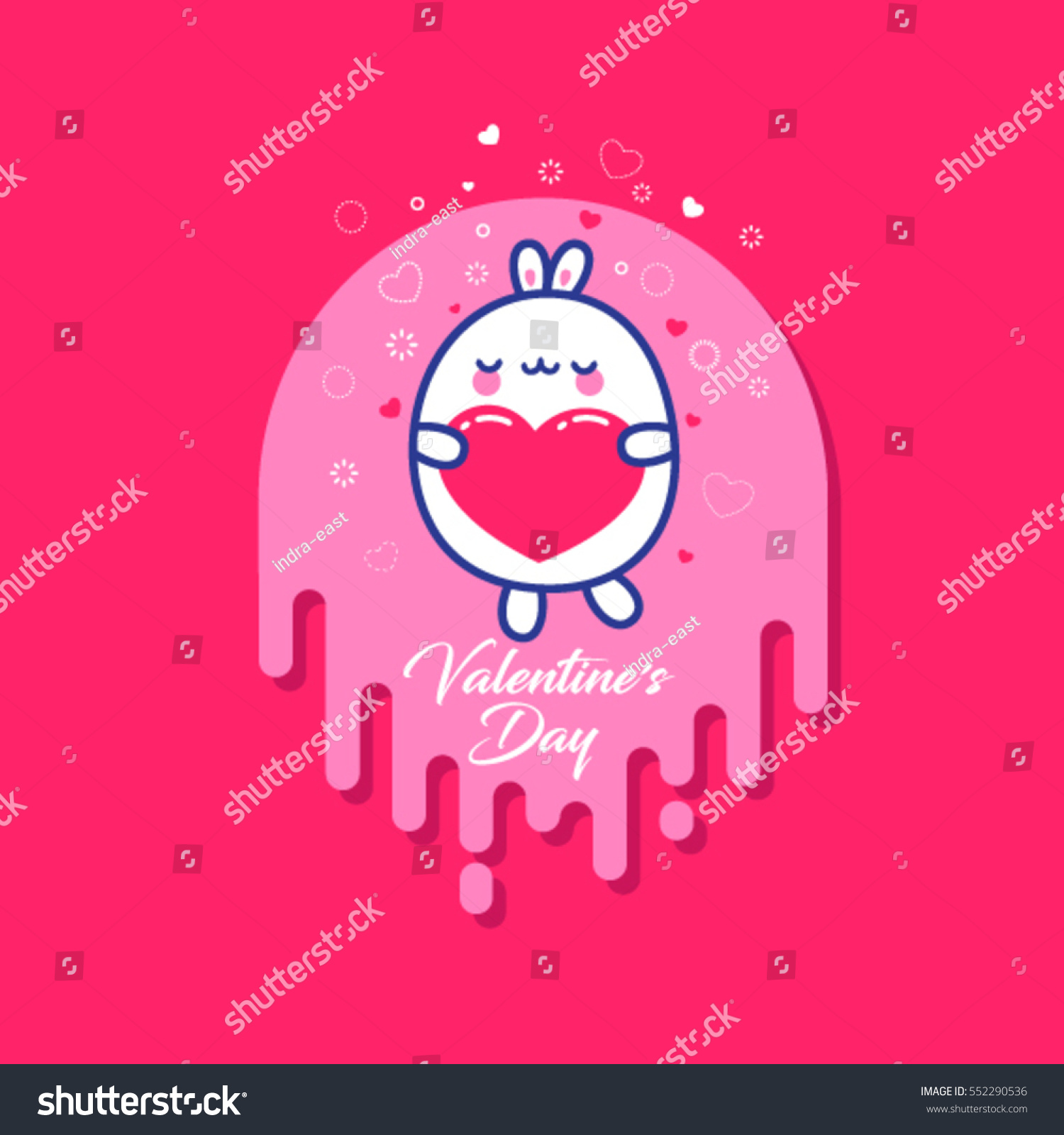 February 14 Valentines Day Kawaii Dancing Stock Vector 552290536    Shutterstock
