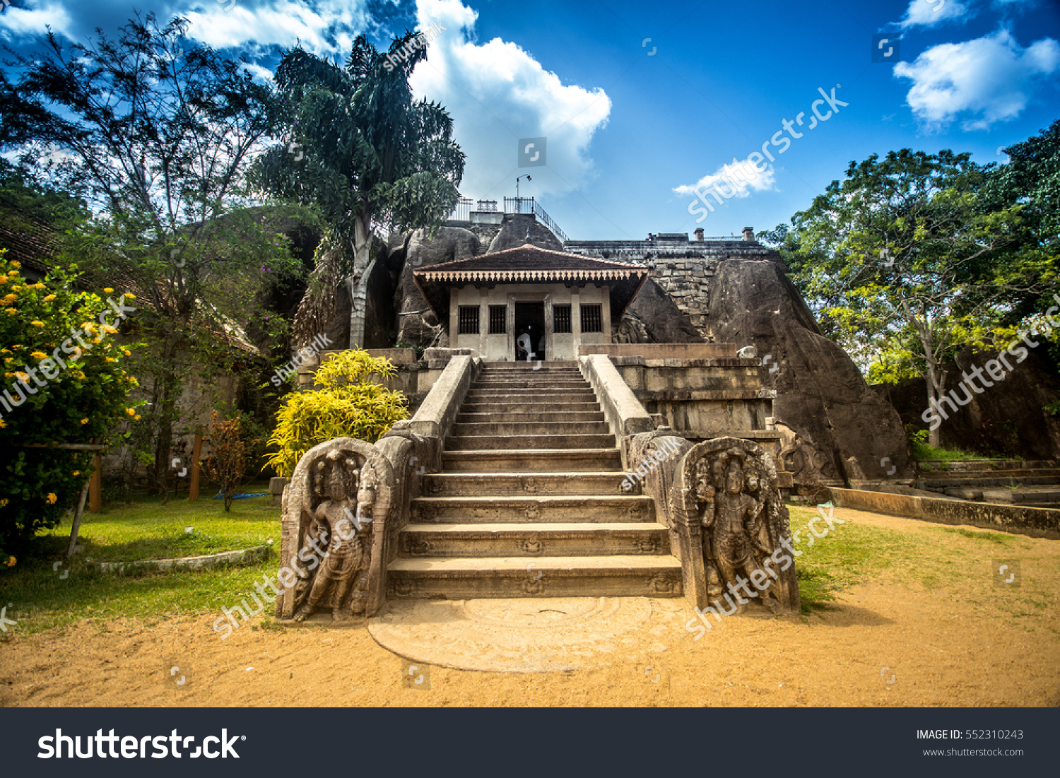 Isurumuniya Viharaya Monastery Old Buildings White Stock Photo ...