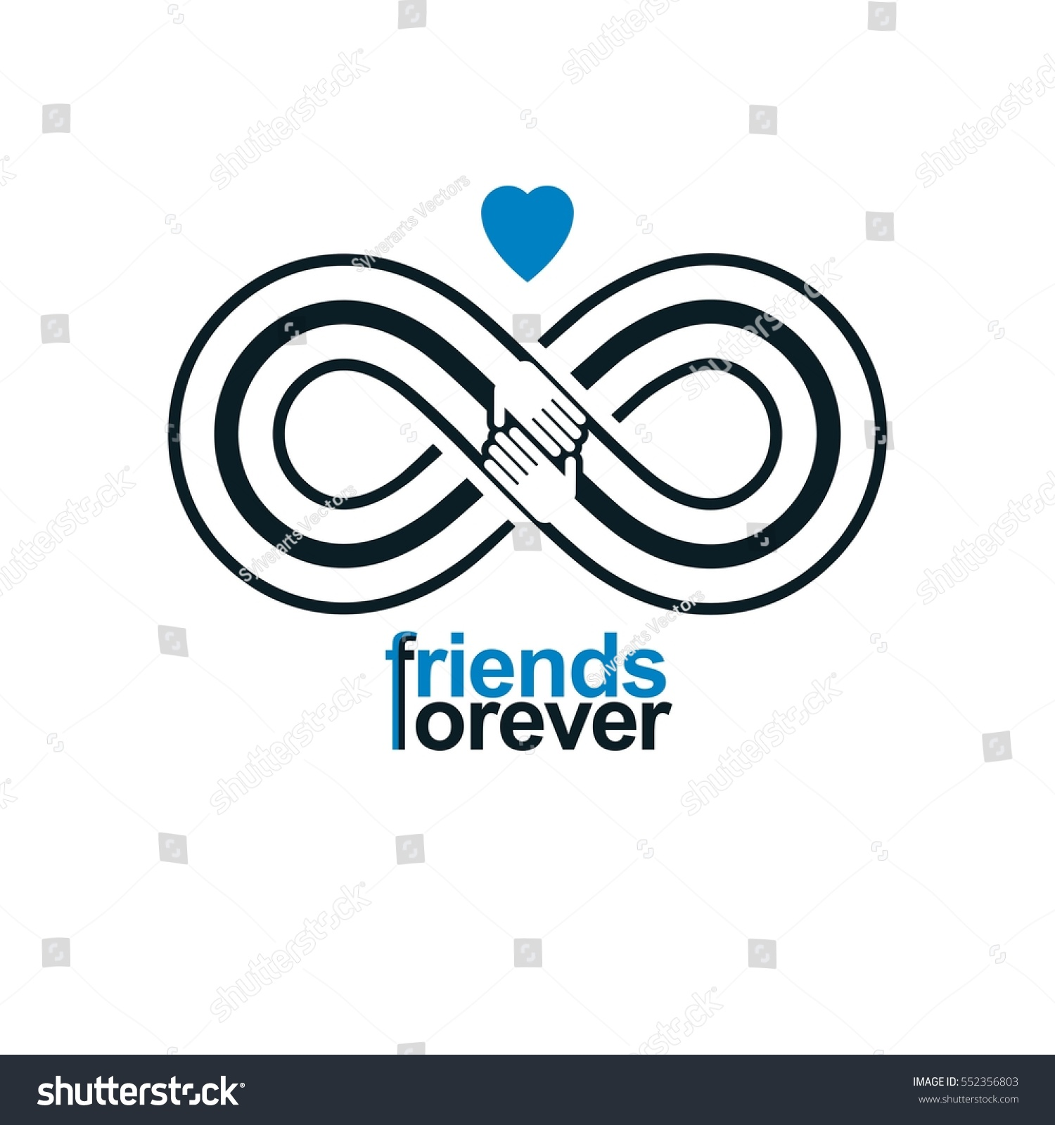 Friends forever everlasting friendship unusual vector stock vector friends forever everlasting friendship unusual vector logo combined with two symbols of infinity and human biocorpaavc Images