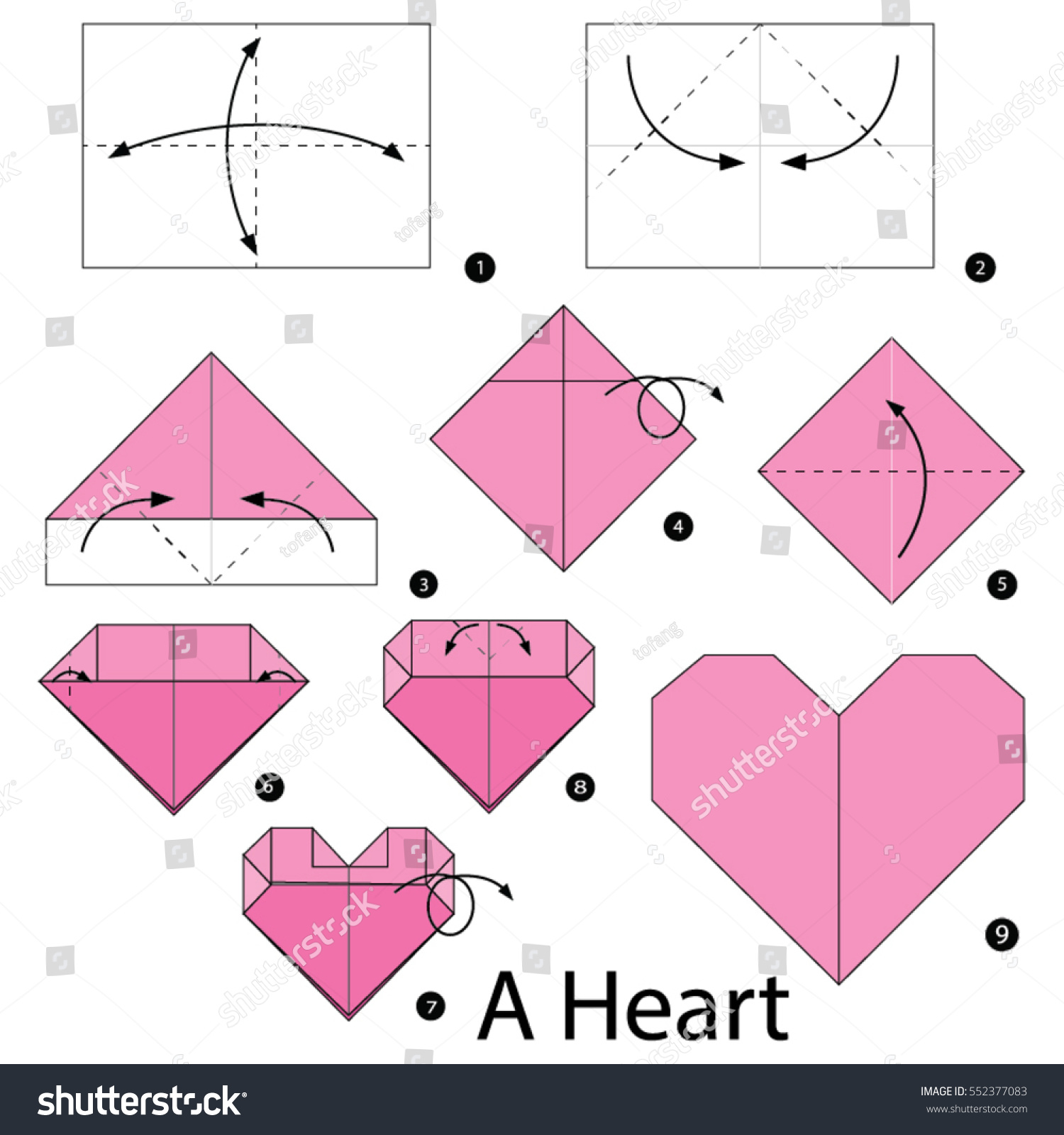Step By Step Instructions How Make Stock Vector 552377083 ... - photo#24