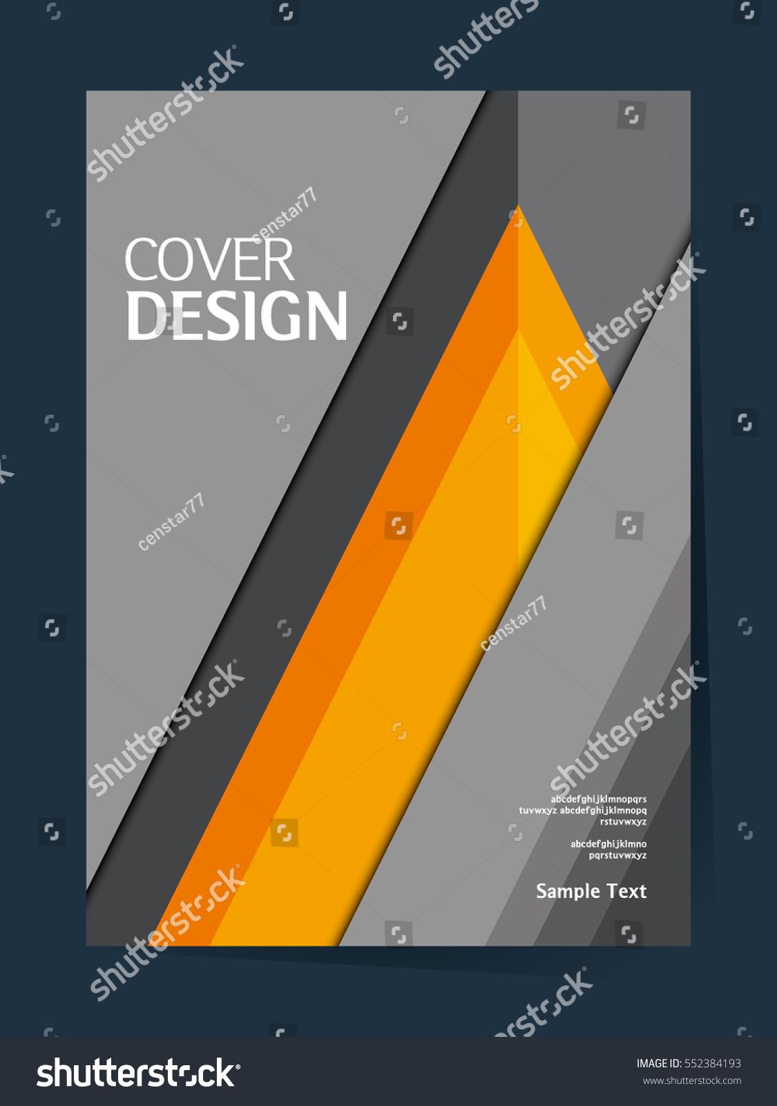 Cool Book Cover Vector : Book cover design vector template a stock