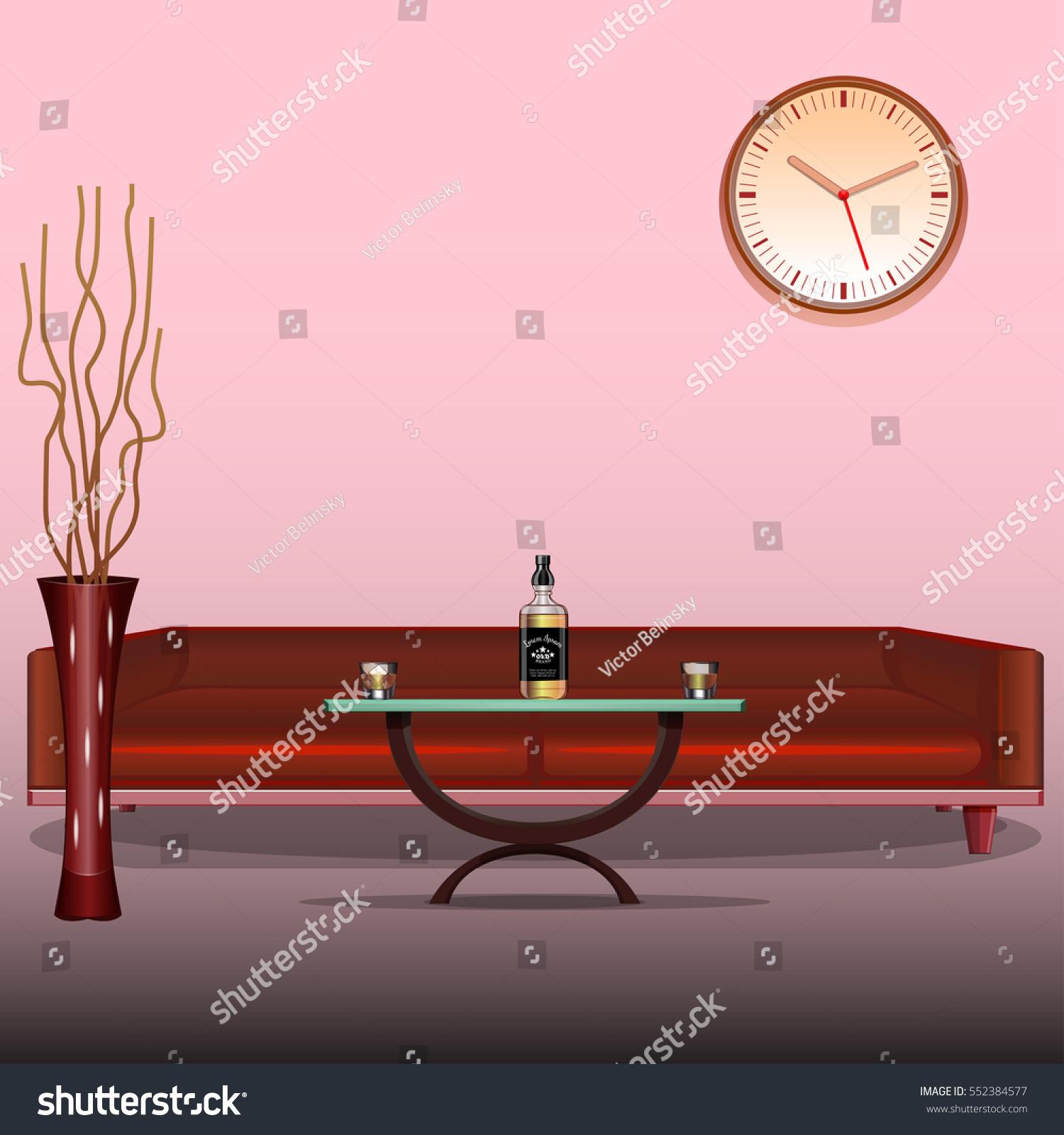 Art interior living room design template stock vector 552384577 art interior living room design template red sofa liquor whiskey cognac pronofoot35fo Image collections