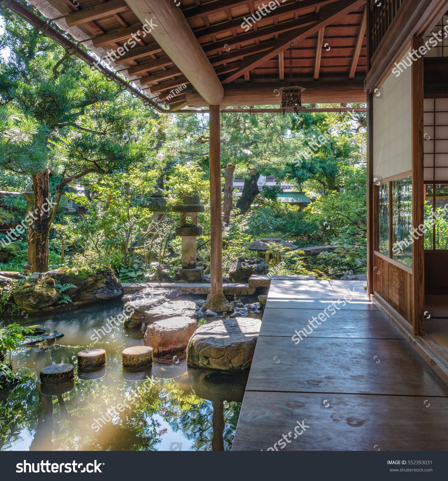 Scenery of the beautiful Japanese garden & Scenery Beautiful Japanese Garden Stock Photo (Edit Now) 552393031 ...