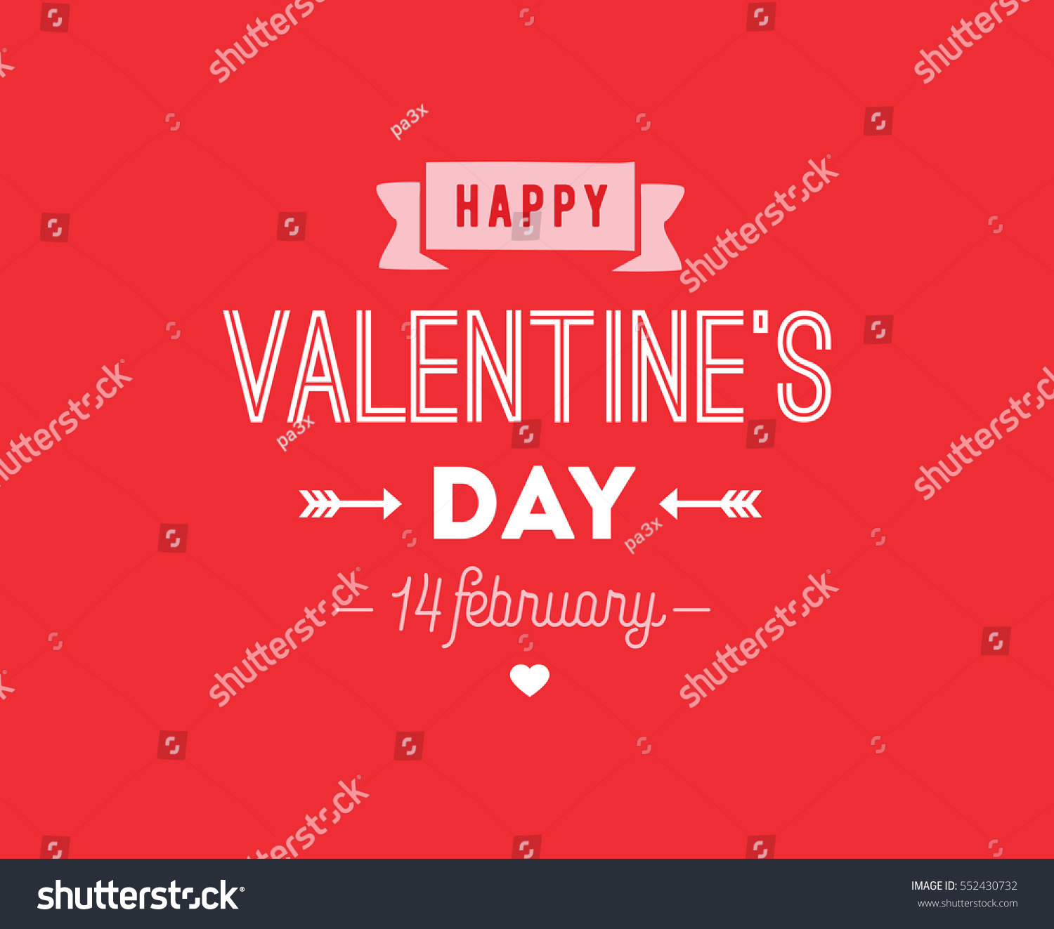 Happy Valentines day typography. Vector text design. Usable for banners, greeting cards, gifts etc. 14 february   #552430732