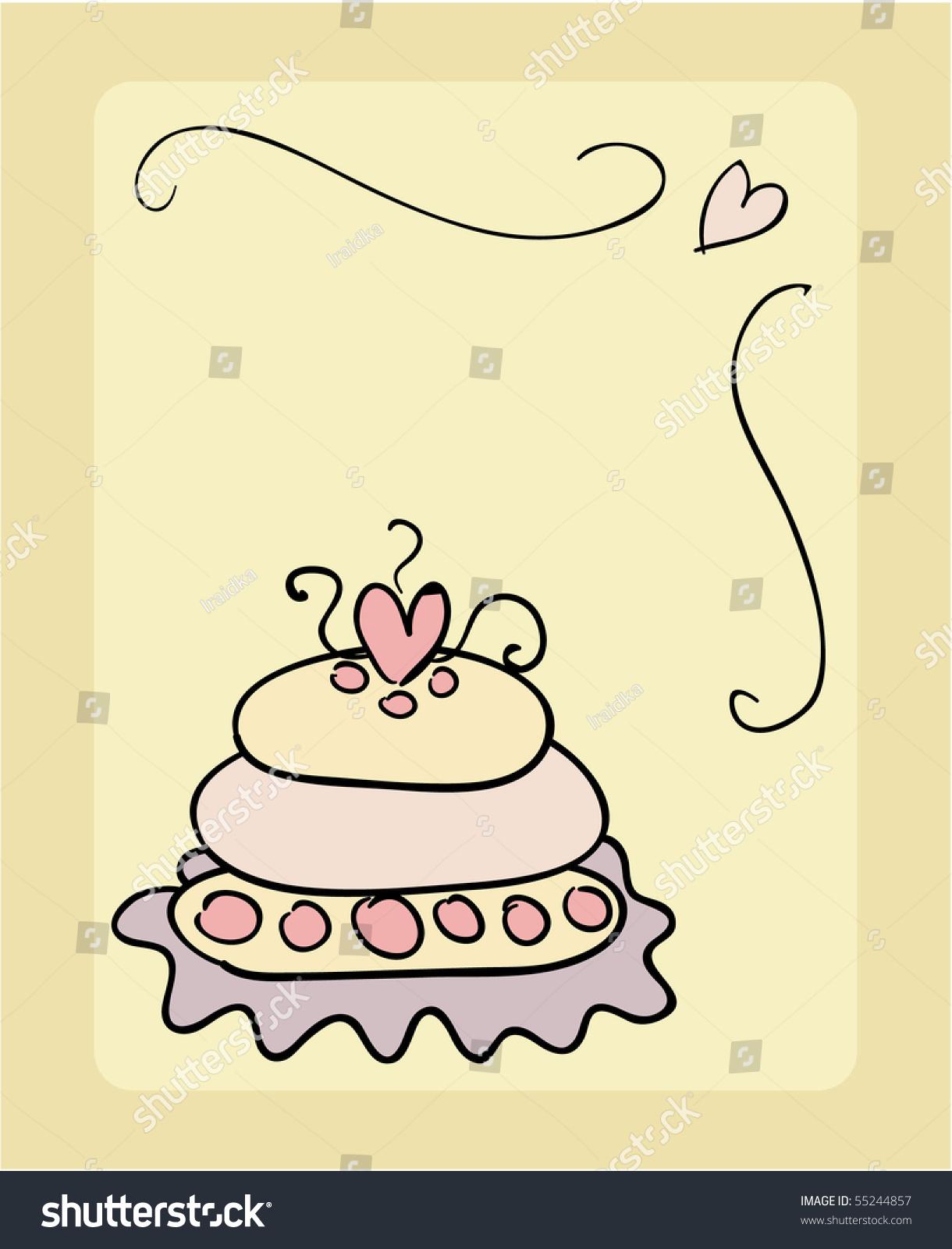 Wedding Cake Vector Stock Vector (Royalty Free) 55244857 - Shutterstock