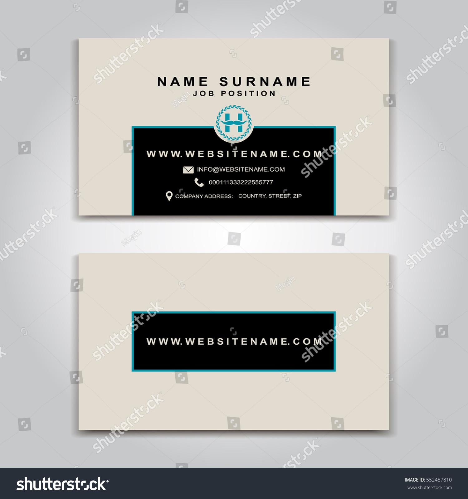 Vector Business Card Creative Design Modern Stock Vector 552457810 ...