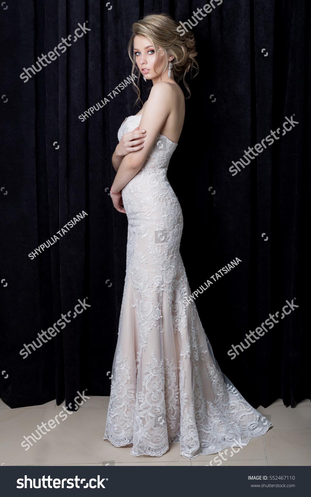 Beautiful Gentle Girl Sexy Bride Beautiful Stock Photo Edit Now