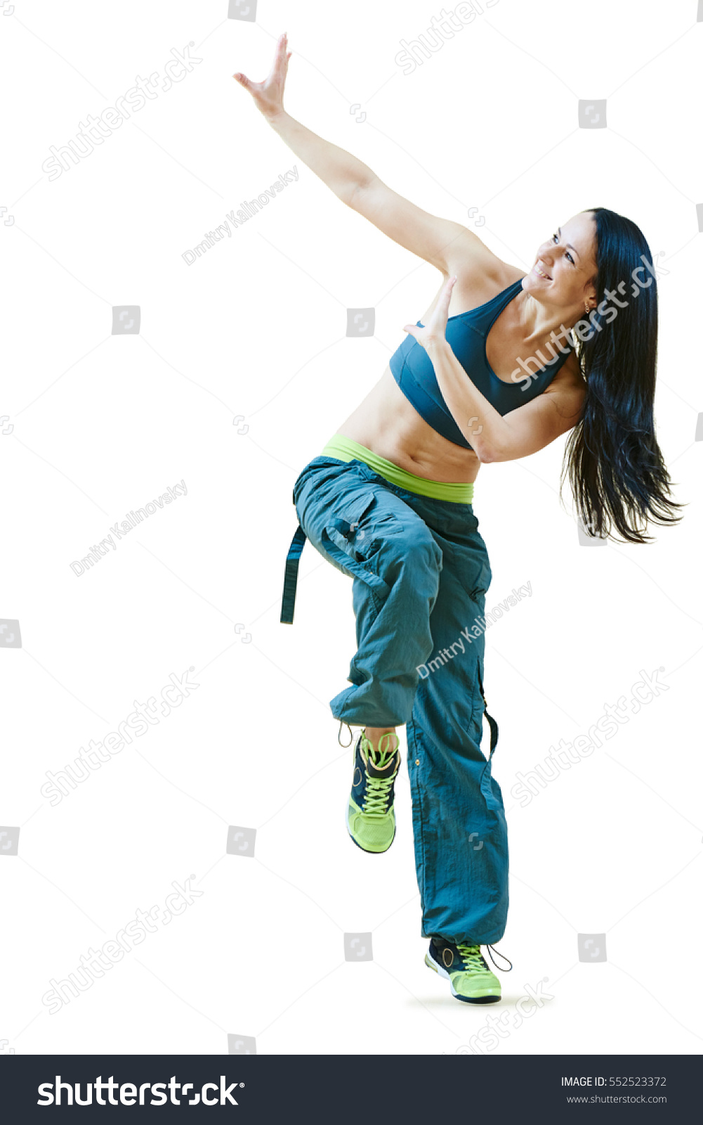 Fitness Zumba Instructor Dancing Exercises Stock Photo Edit Now