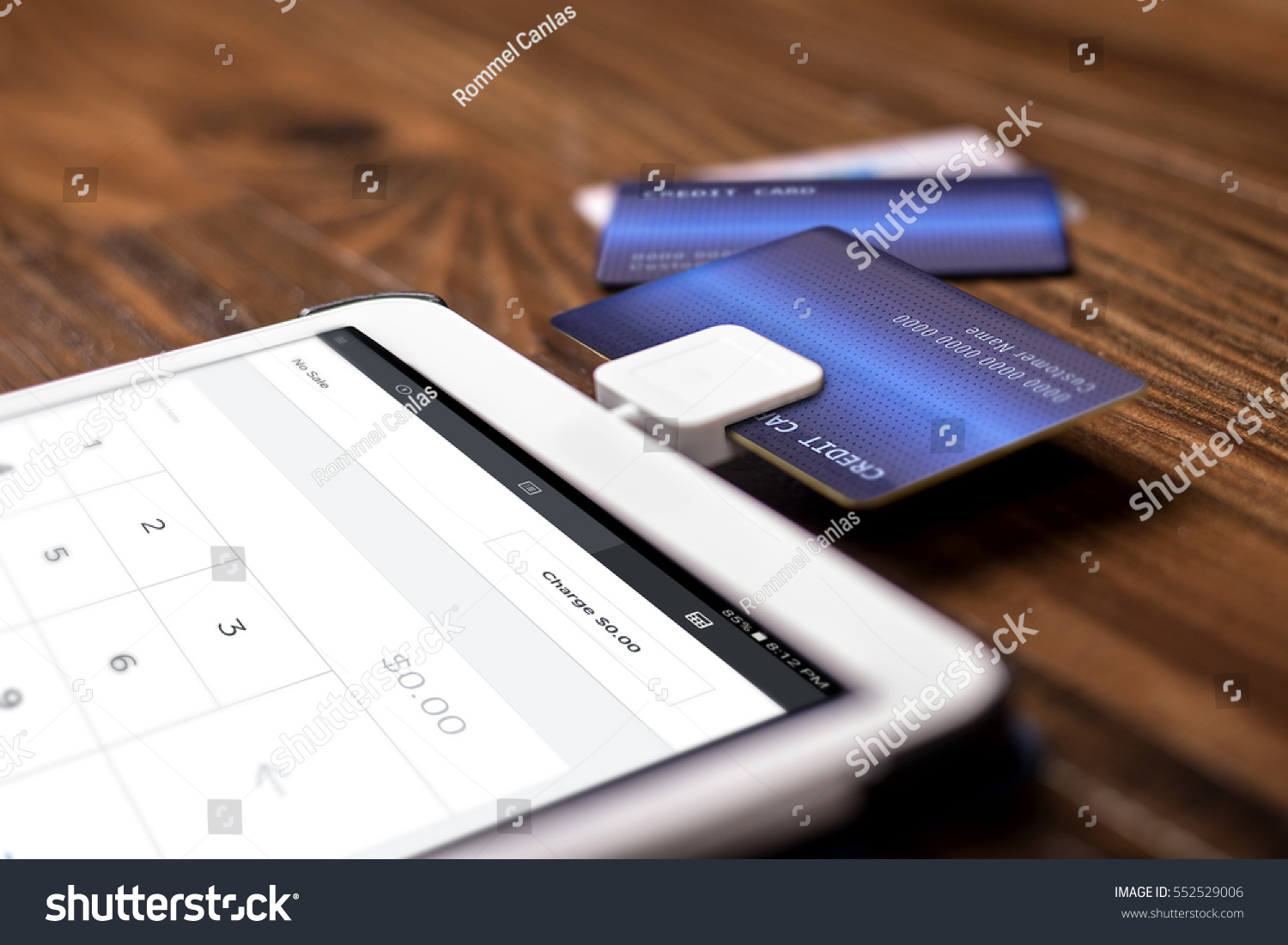 Credit Card Payment On Swipe Chip Stock Photo (Royalty Free ...