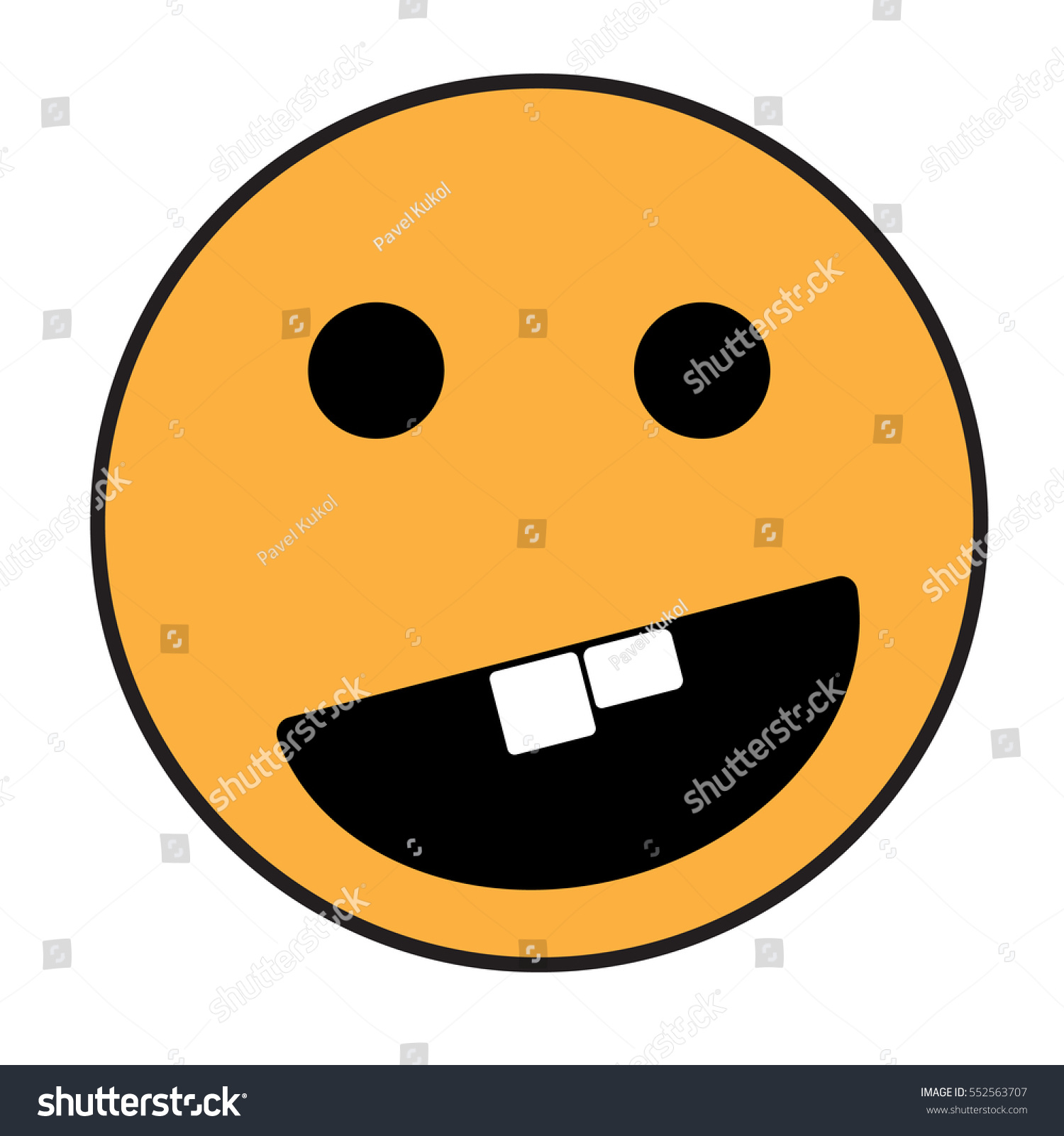 Smiley Face Yellow Orange Smile Poster Stock Vector