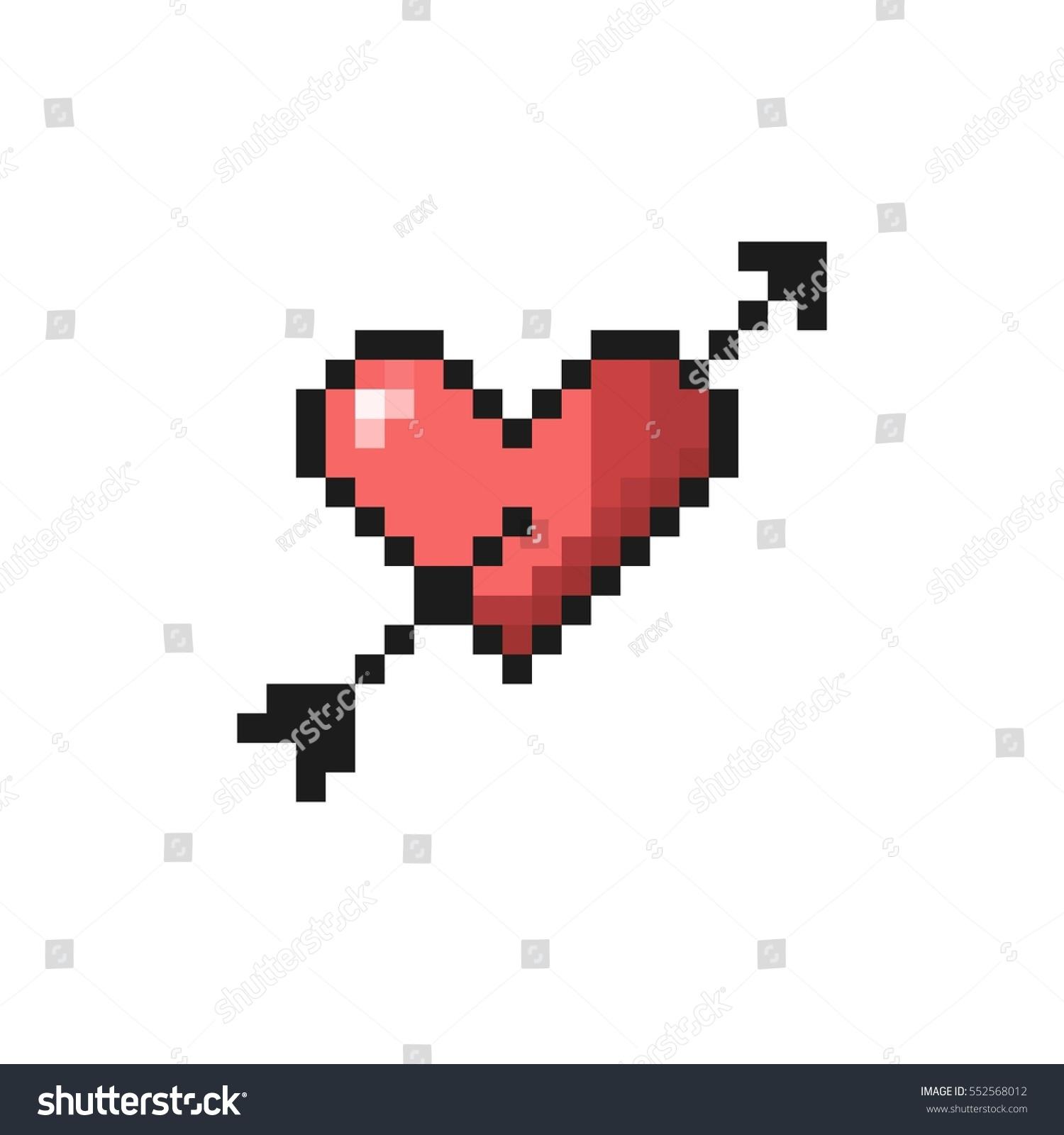 Image Vectorielle De Stock De Heart Arrow Pixel Art 552568012
