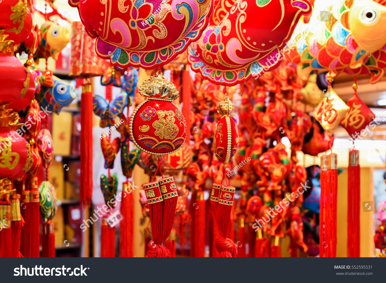 Chinese new year. Traditional Chinese decorations.