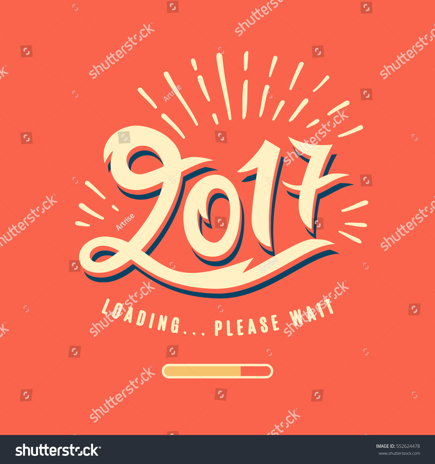 is loading please wait amusing new year poster funny typography design