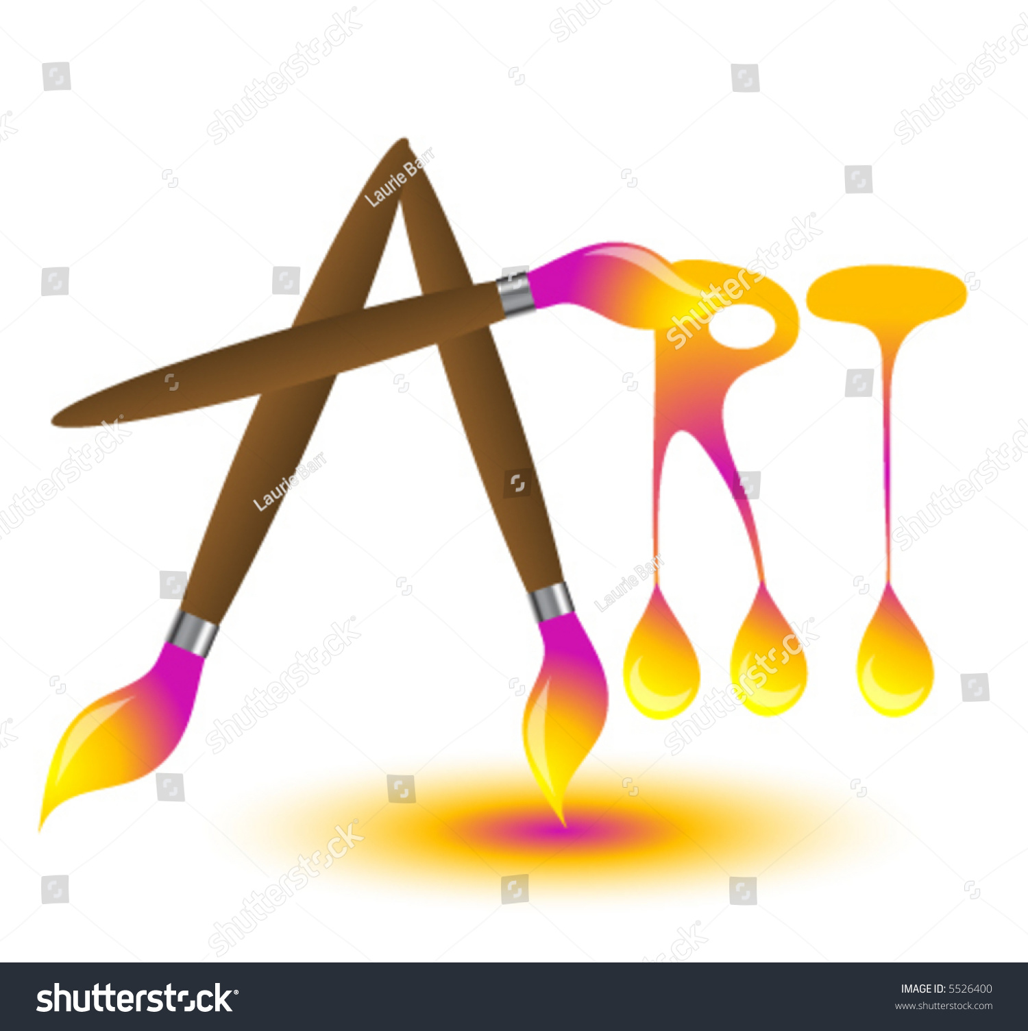 Word Art Spelled Out Paint Brushes Stock Vector Shutterstock