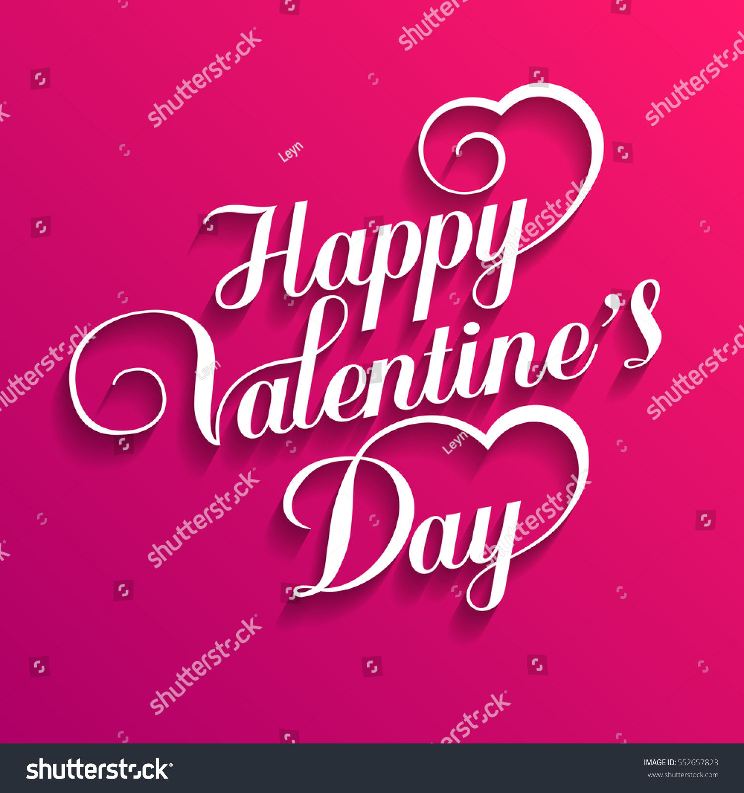 Happy Valentines Day Hand Drawing Vector Lettering design - vector illustration. #552657823