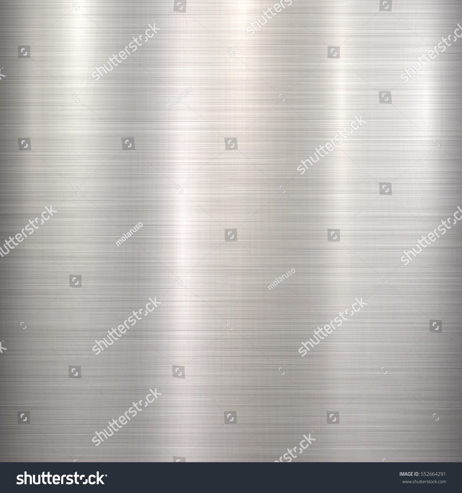 Metal Abstract Technology Background With Polished, Brushed Texture,  Chrome, Silver, Steel,