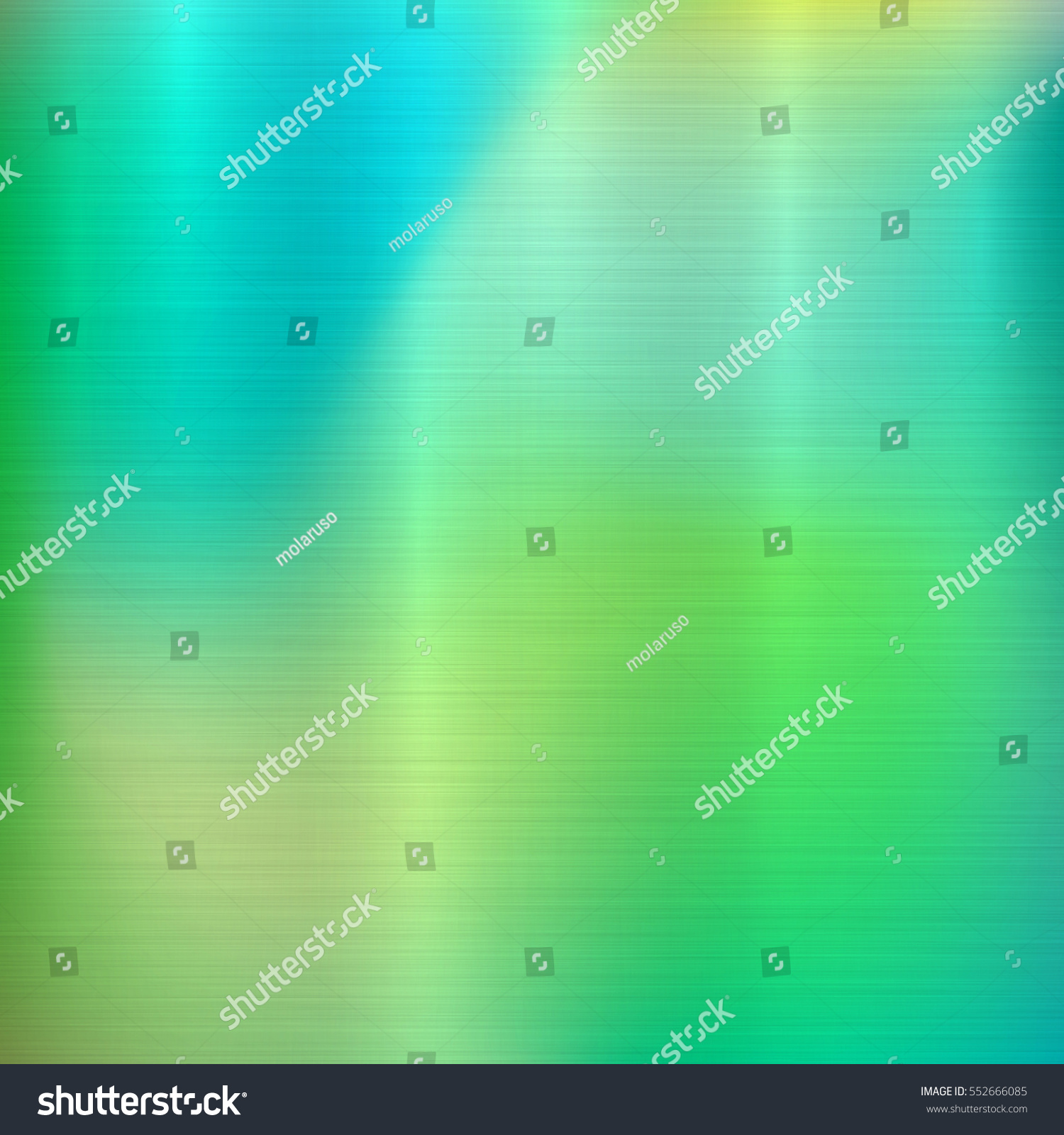 Metal Abstract Green Colorful Gradient Technology Background With Polished,  Brushed Texture, Chrome, Silver