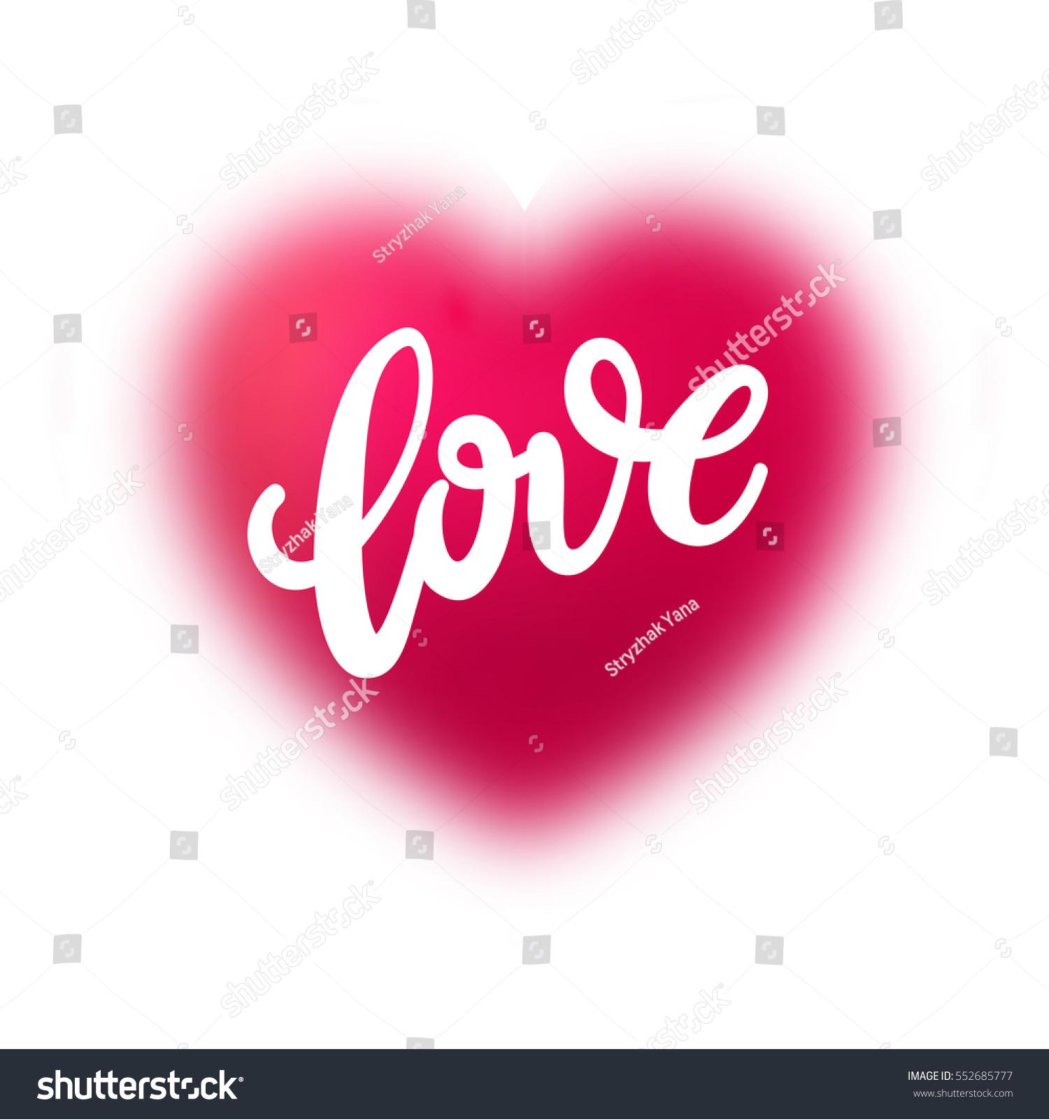 Love you hand written lettering vector stock
