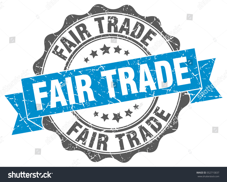 Fair Trade Stamp Sticker Seal Round Stock Vector (Royalty