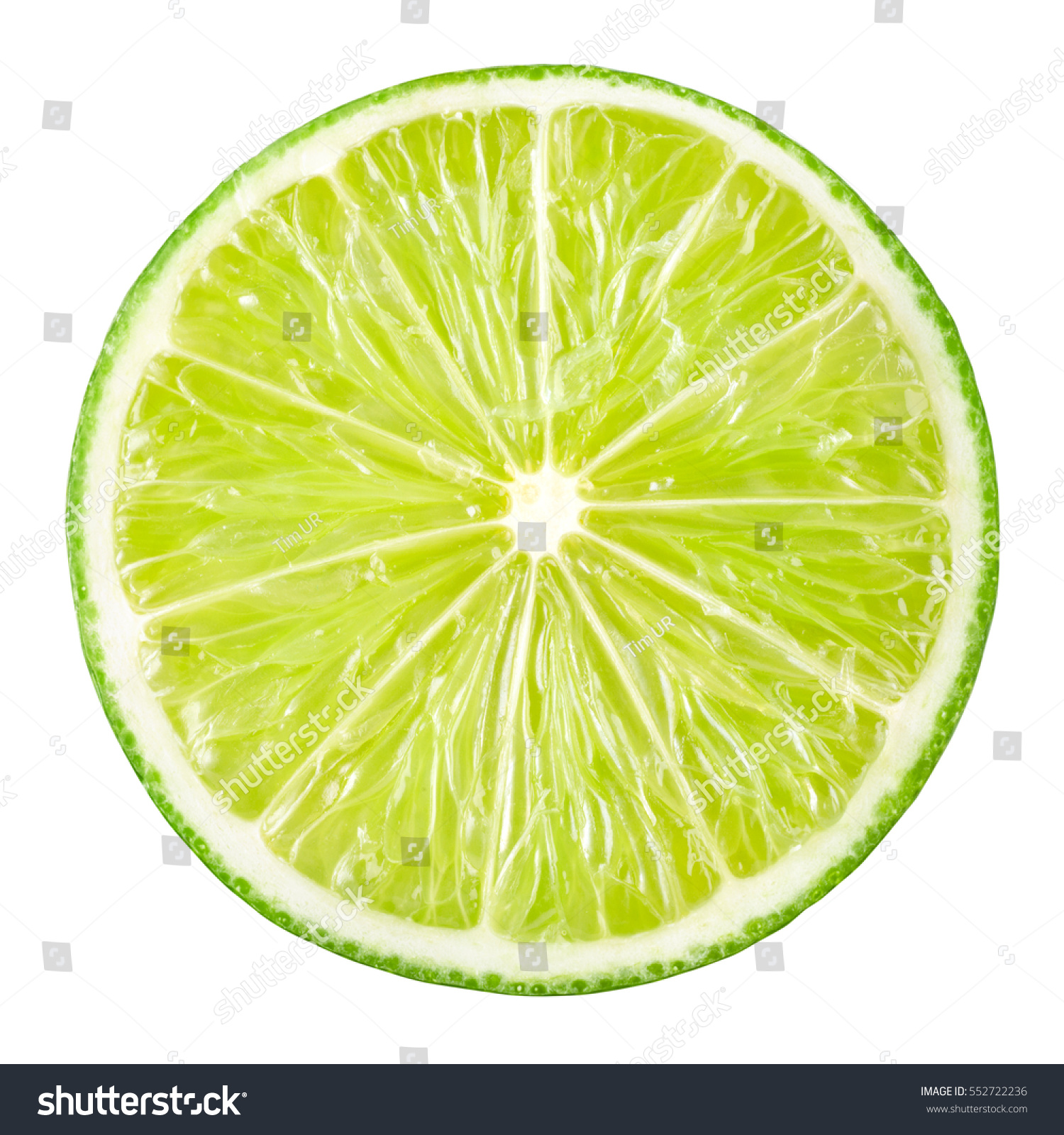 Lime slice. Fruit isolated on white background. With clipping path. #552722236