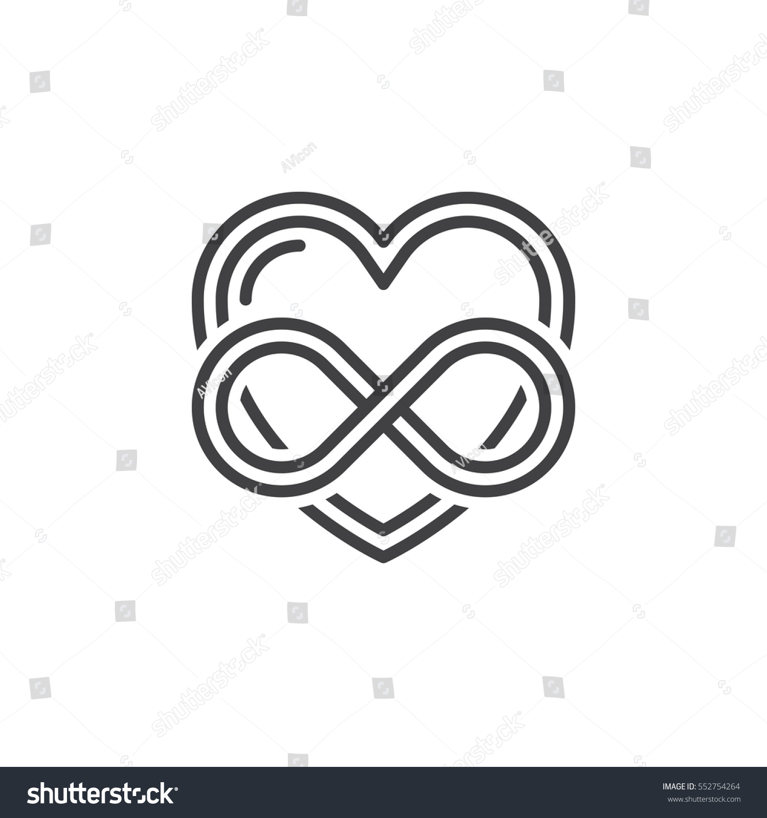 Eternal Love Line Icon Outline Vector Stock Vector Royalty Free