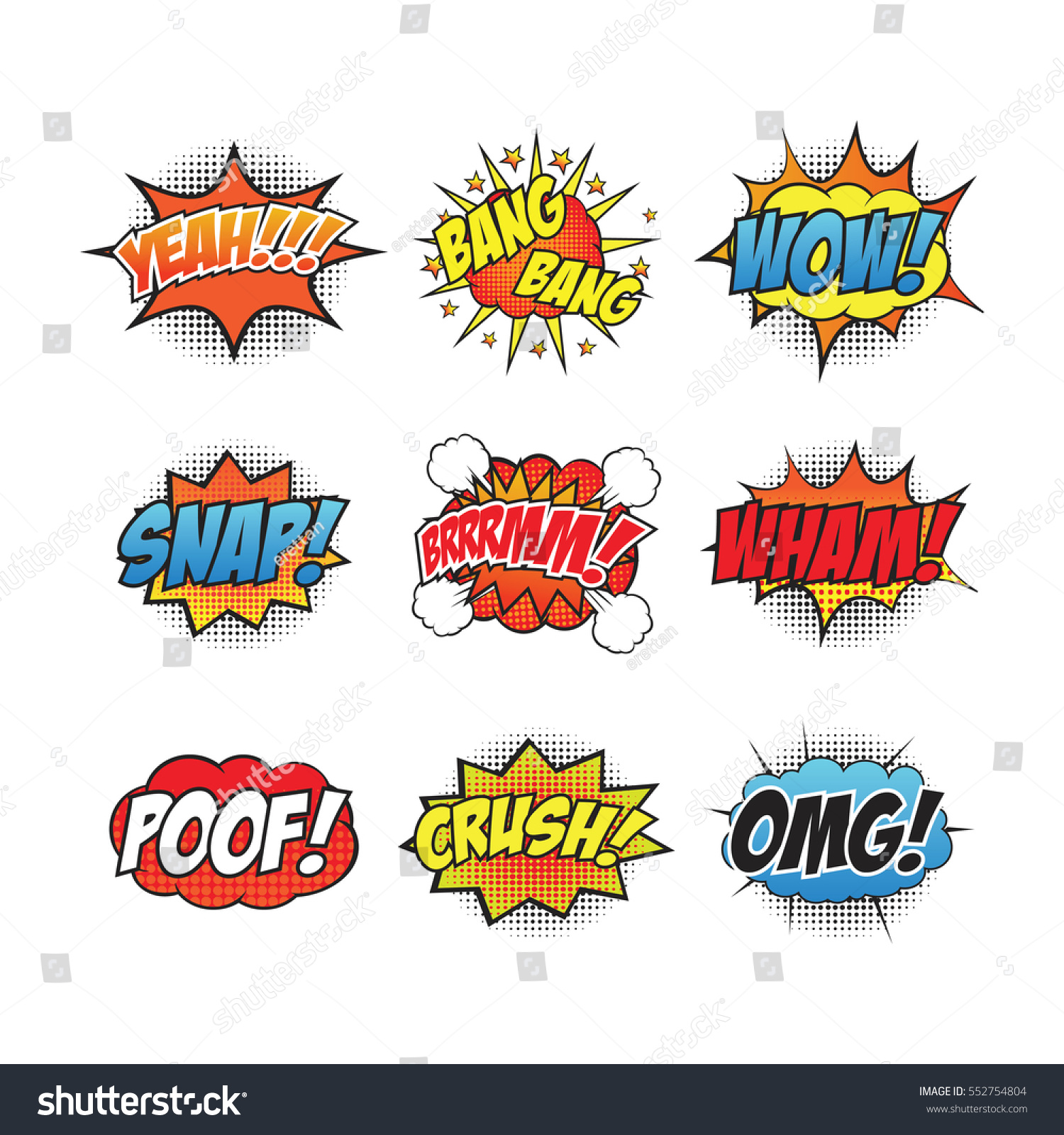 Cartoon Sound Effect Stock Vector Royalty Free 552754804