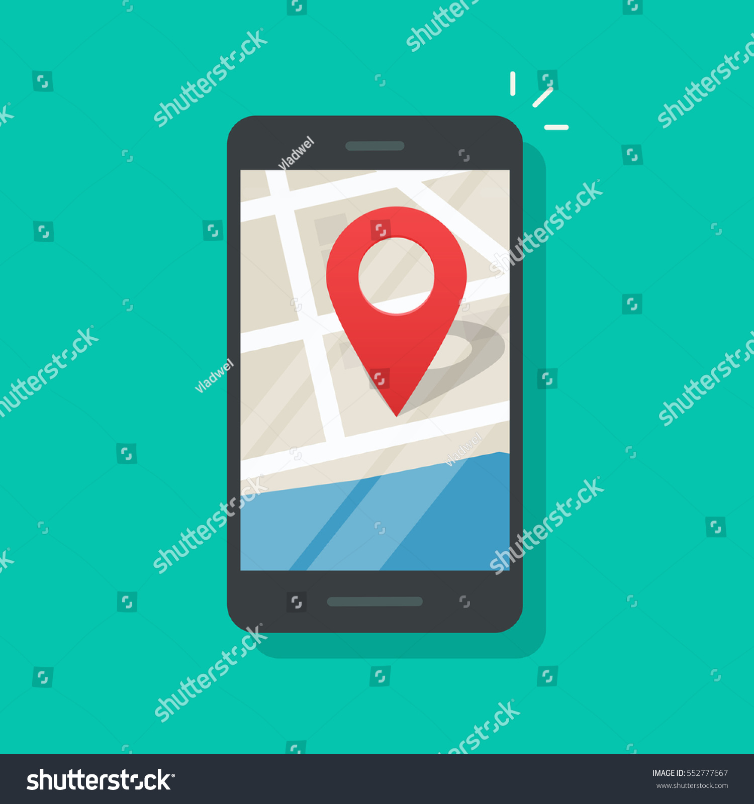 mobile phone geo location smartphone gps image vectorielle 552777667 shutterstock. Black Bedroom Furniture Sets. Home Design Ideas