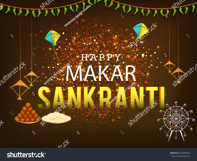 Celebrate makar sankranti greeting card background stock vector celebrate makar sankranti greeting card background with colorful kite m4hsunfo