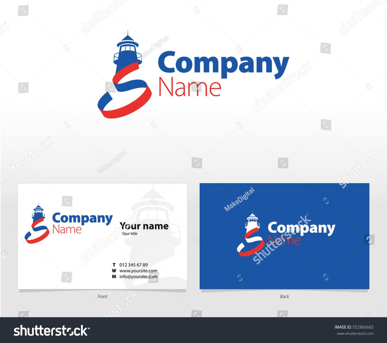 Lighthouse Logo Vector Template Business Card Stock Vector ...