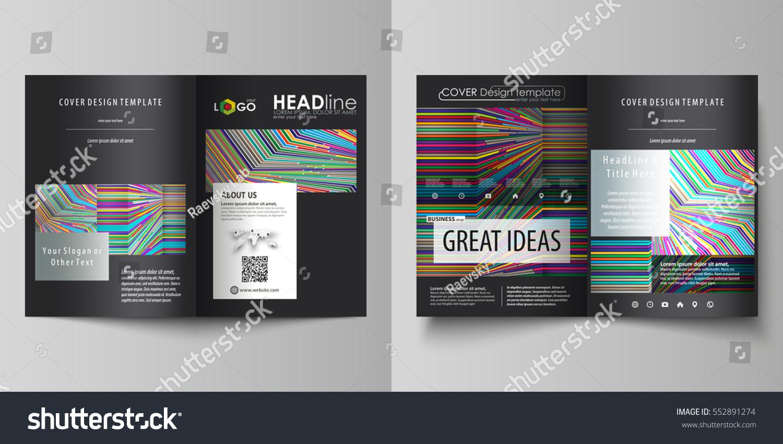 bi fold brochure design templates - business templates bi fold brochure flyer stock vector