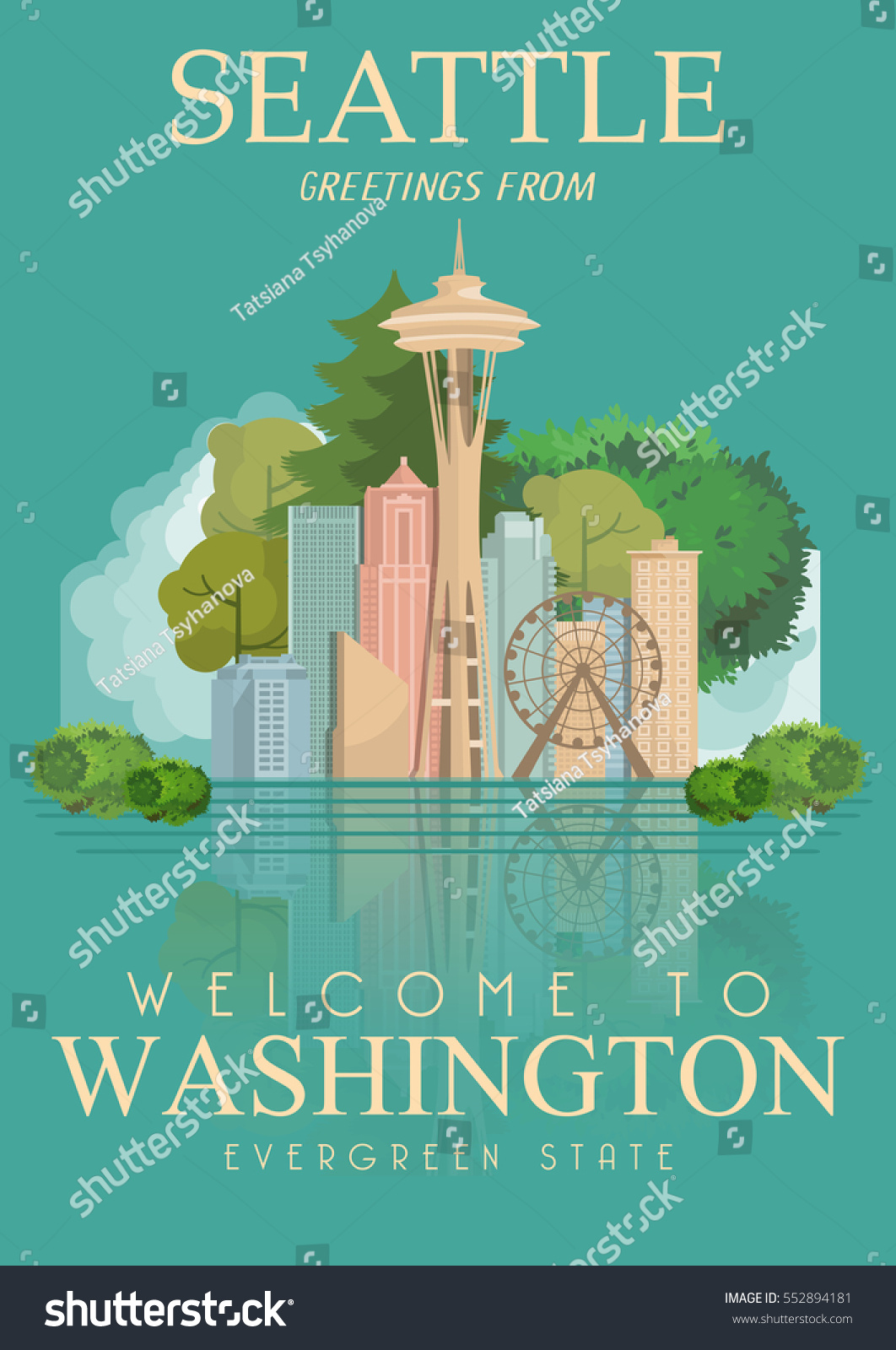 Washington vector american poster usa travel stock vector 552894181 washington vector american poster usa travel illustration united states of america colorful greeting card kristyandbryce Images